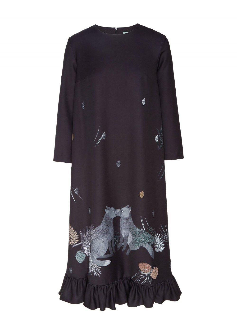 Akhmadullina Dreams Black Print Dress
