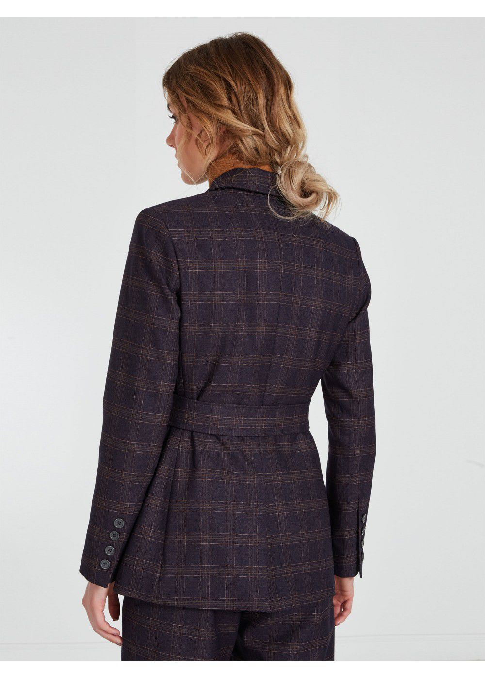 Akhmadullina Dreams Checked Belted Jacket