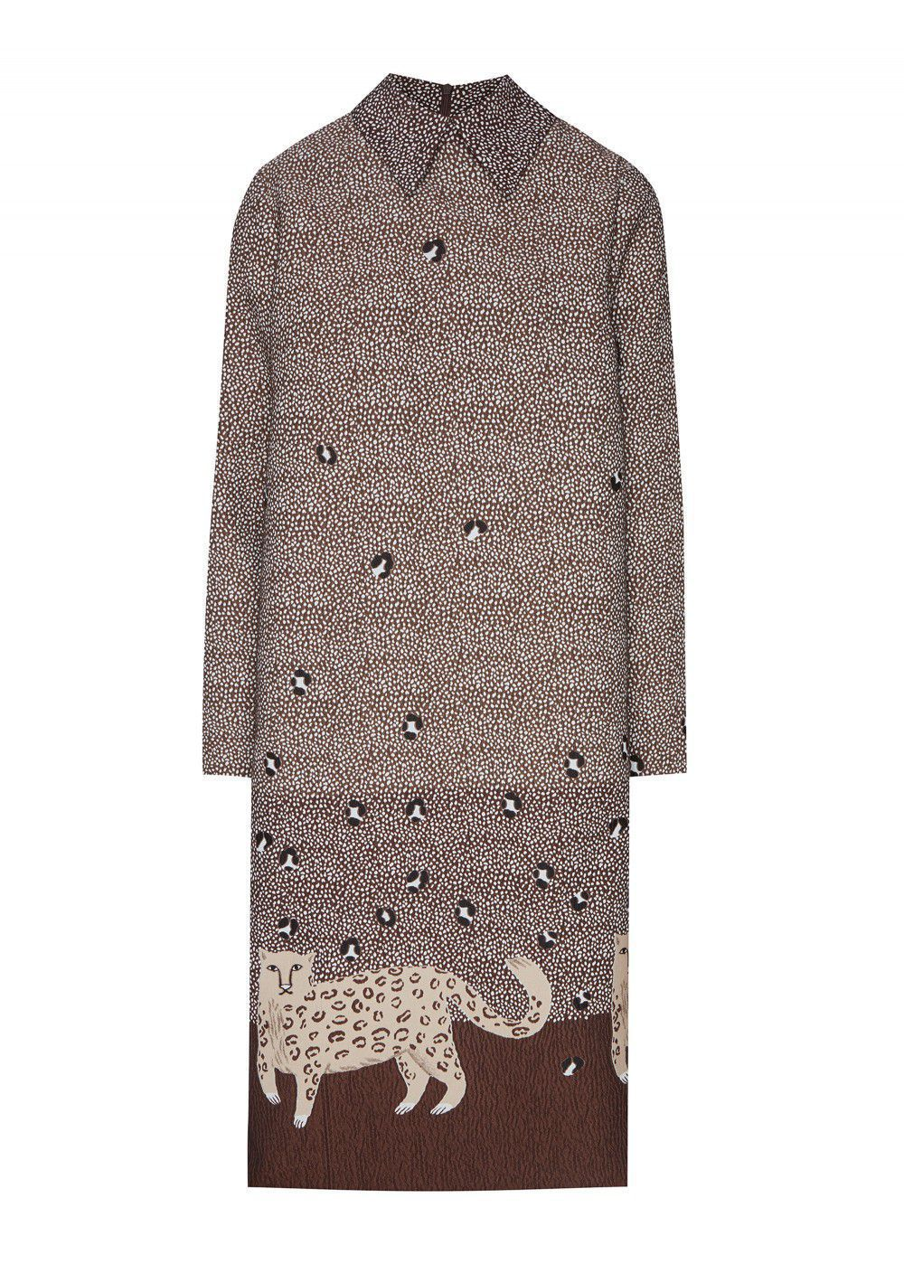Akhmadullina Dreams Dress with Leopard Print