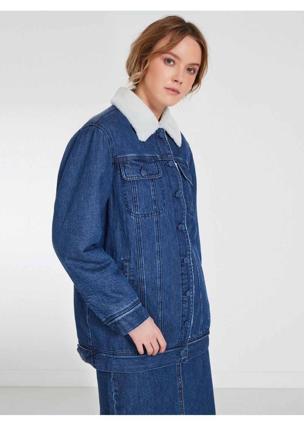 Akhmadullina Dreams Insulated Denim Jacket