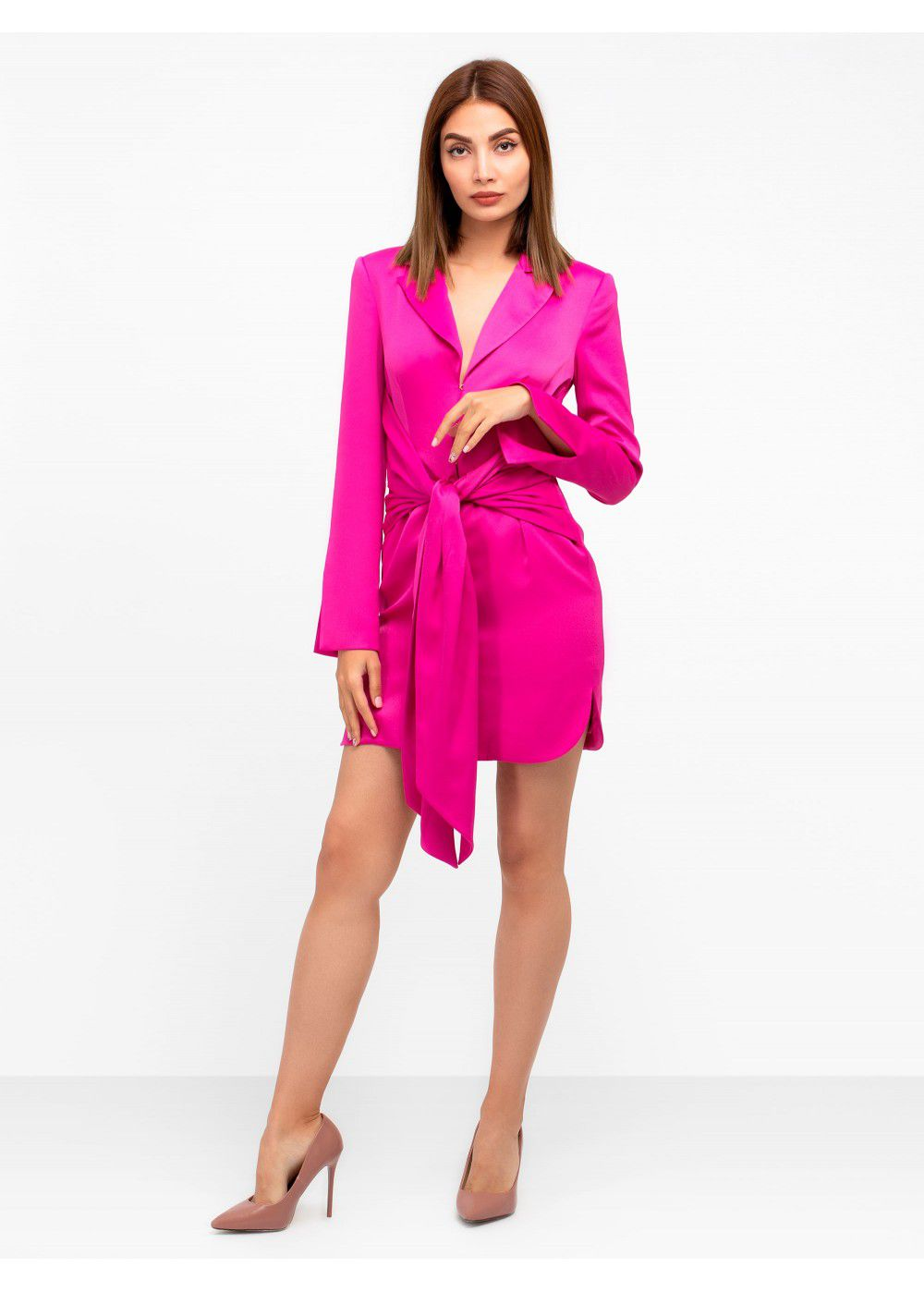 Misha Collection Teagan Fuschia Mini Dress