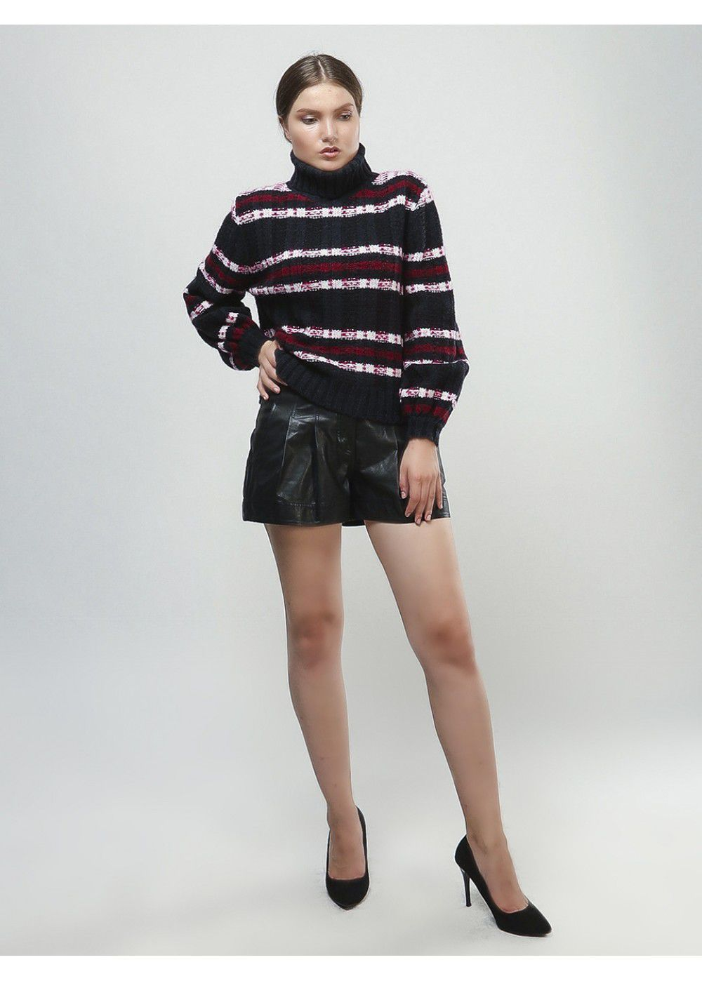 A.L.C. Navy-Burgundy Sweater
