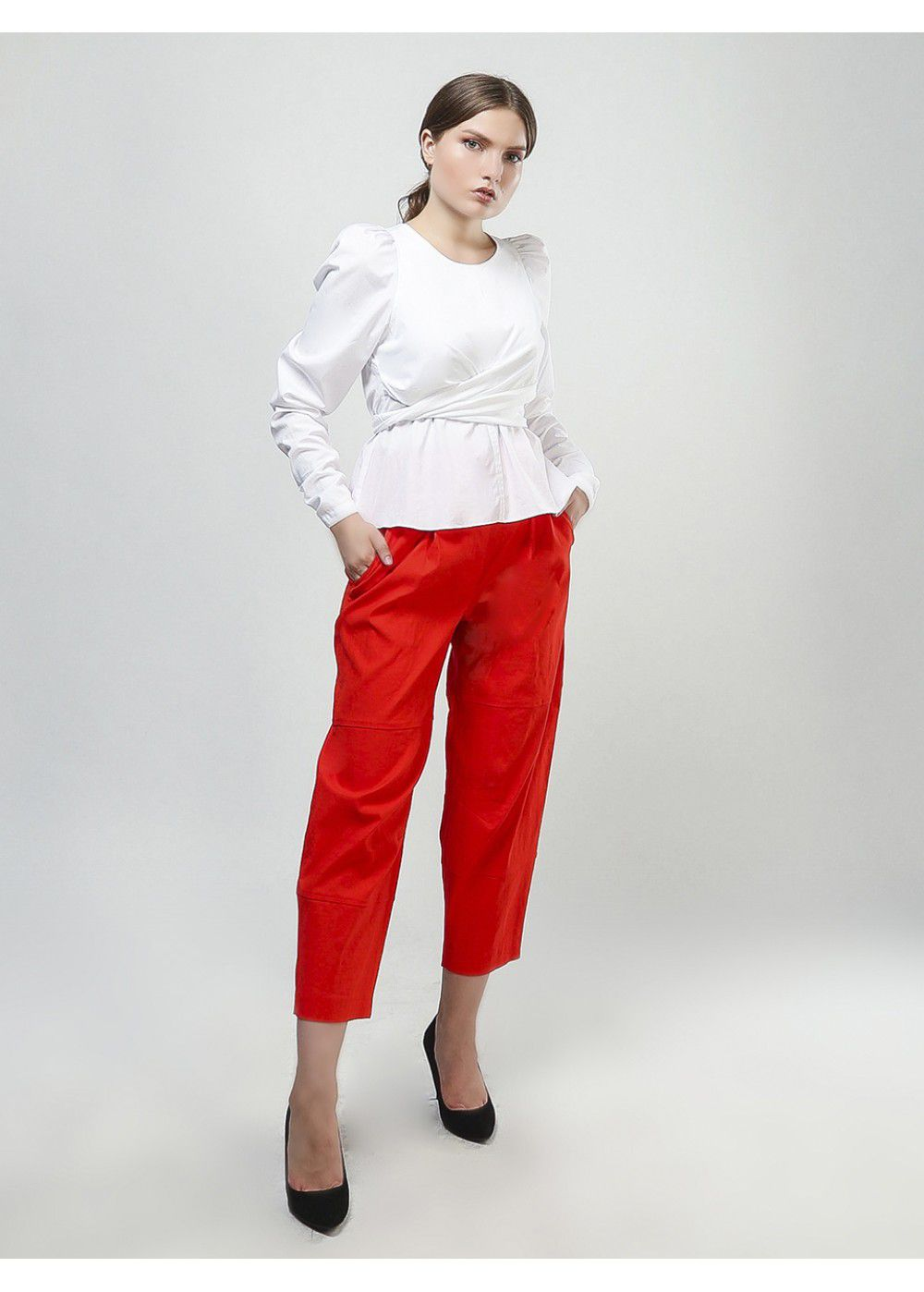 A.L.C. Short Wide Pants in Red