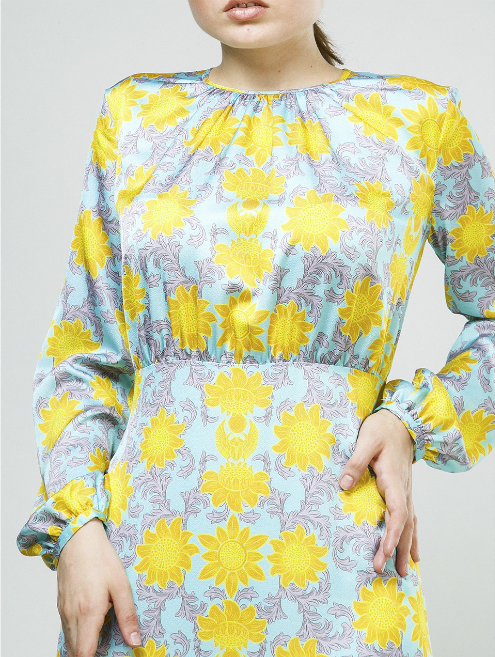 A La Russe Dress with Sunflowers