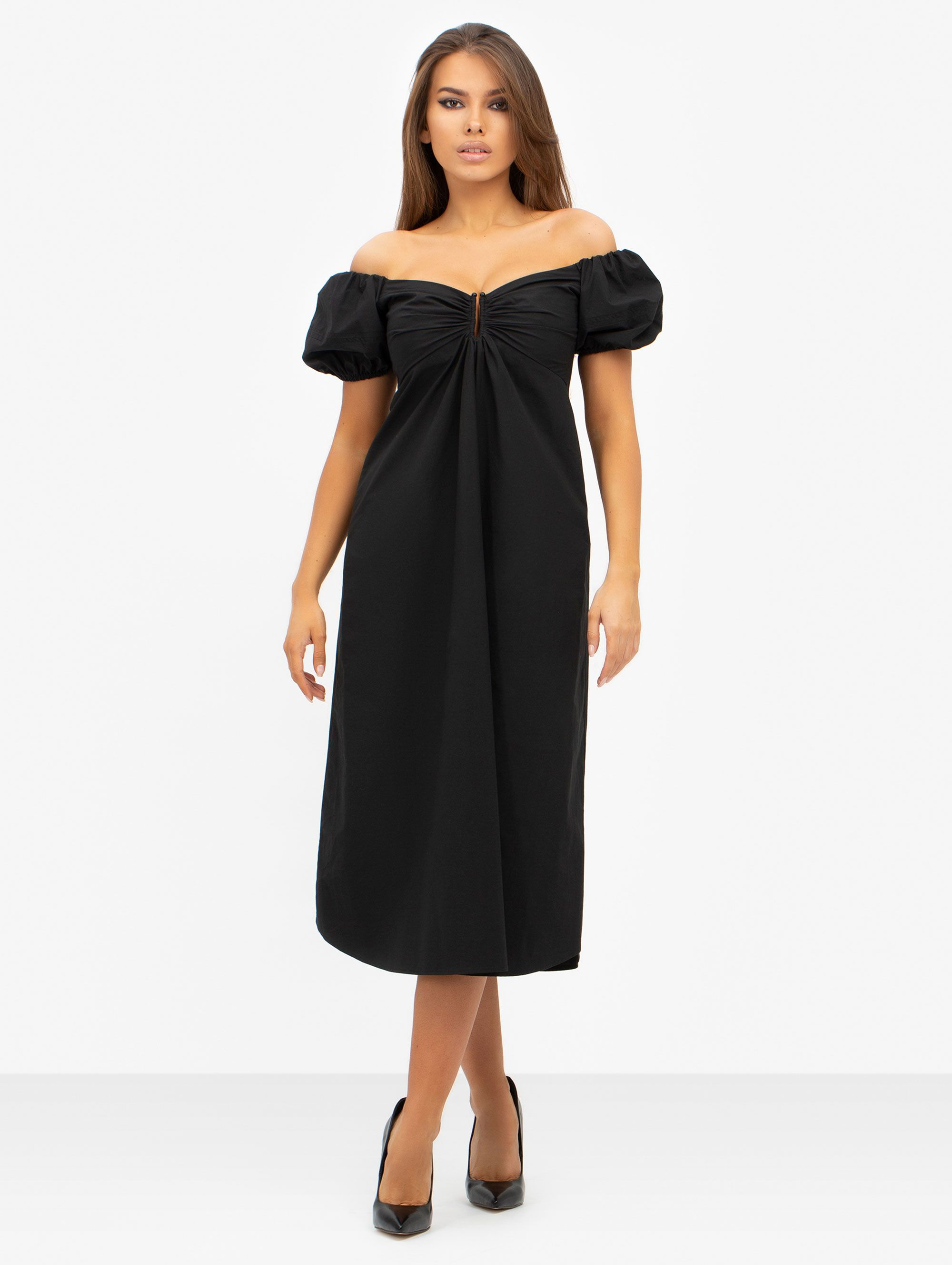 A.L.C. Marylin Off The Shoulder Midi Dress