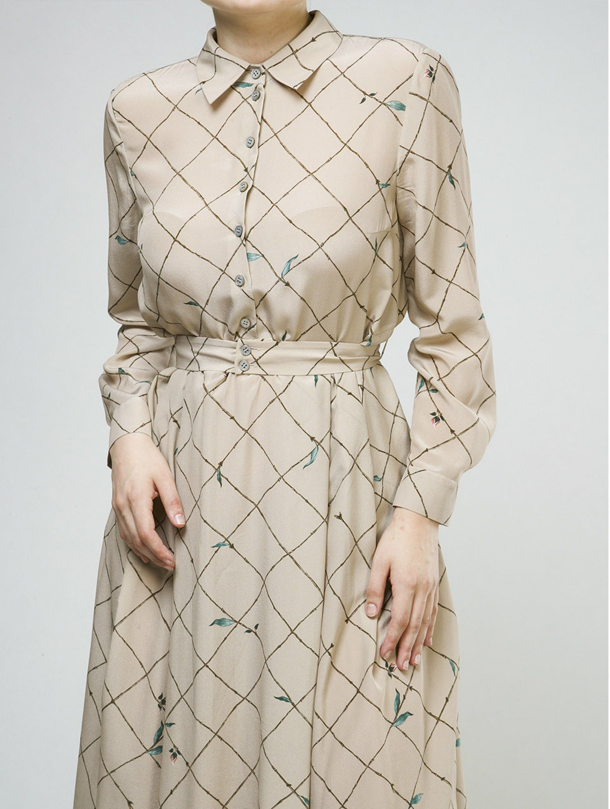 Alena Akhmadullina Silky Dress in Beige