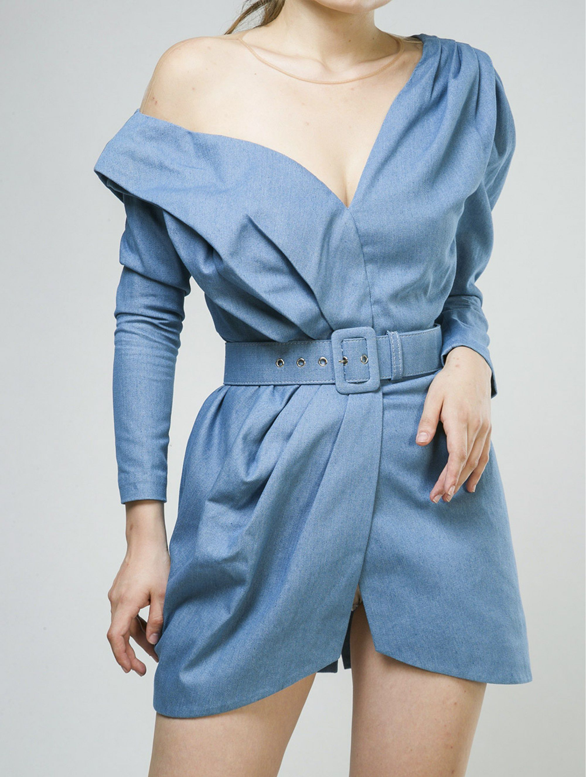 Alena Akhmadullina Belted Denim Dress
