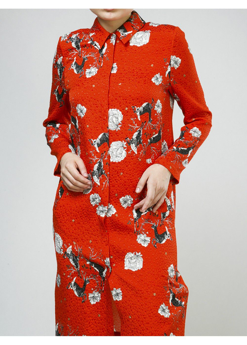 Alena Akhmadullina Shirt-Dress with Deer Print