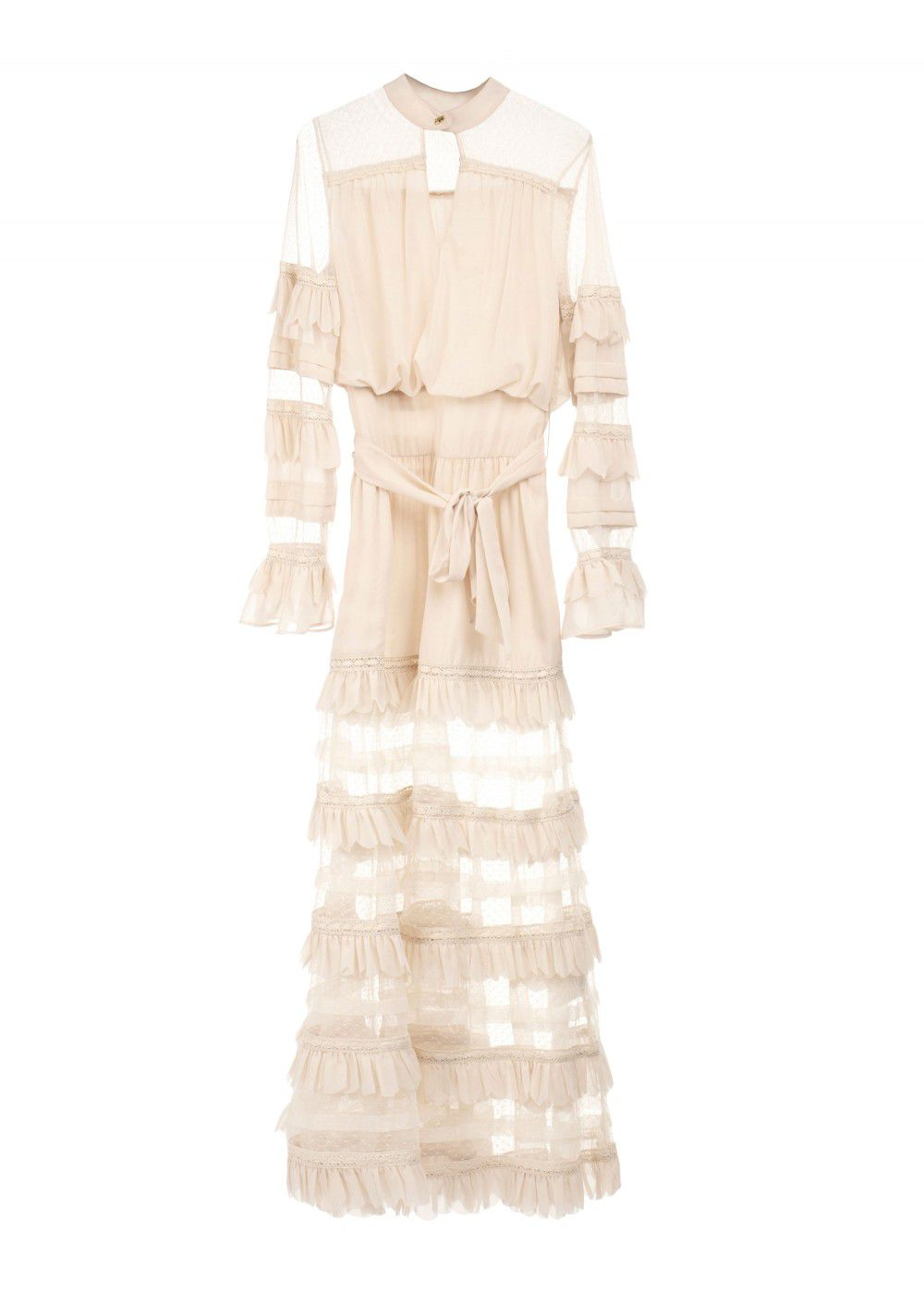 Roberto Cavalli Frilled Maxi Dress