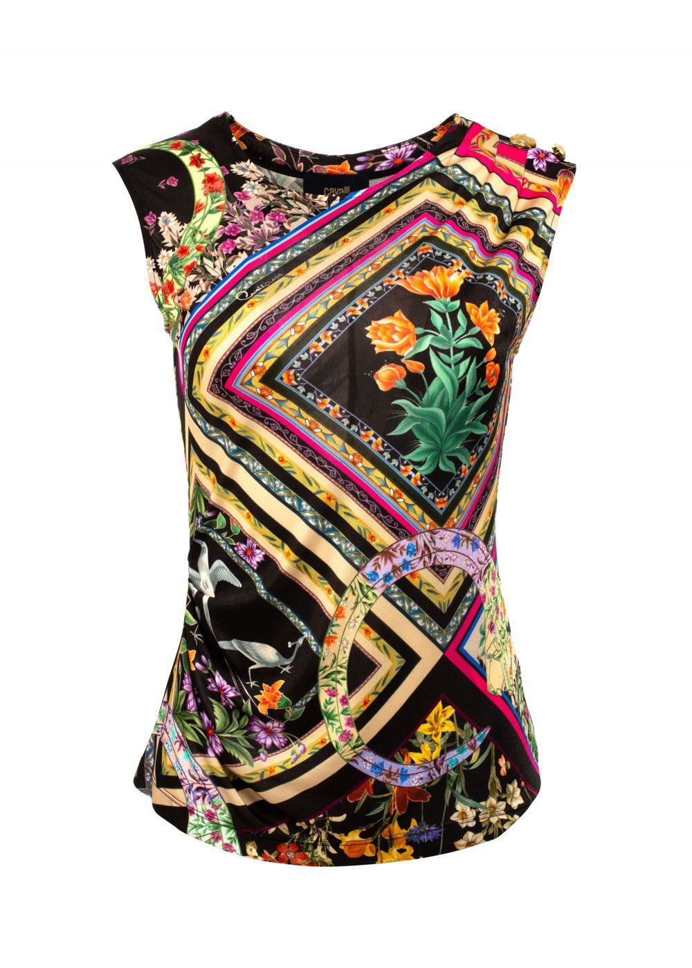 Roberto Cavalli Multicoloured Silk Top