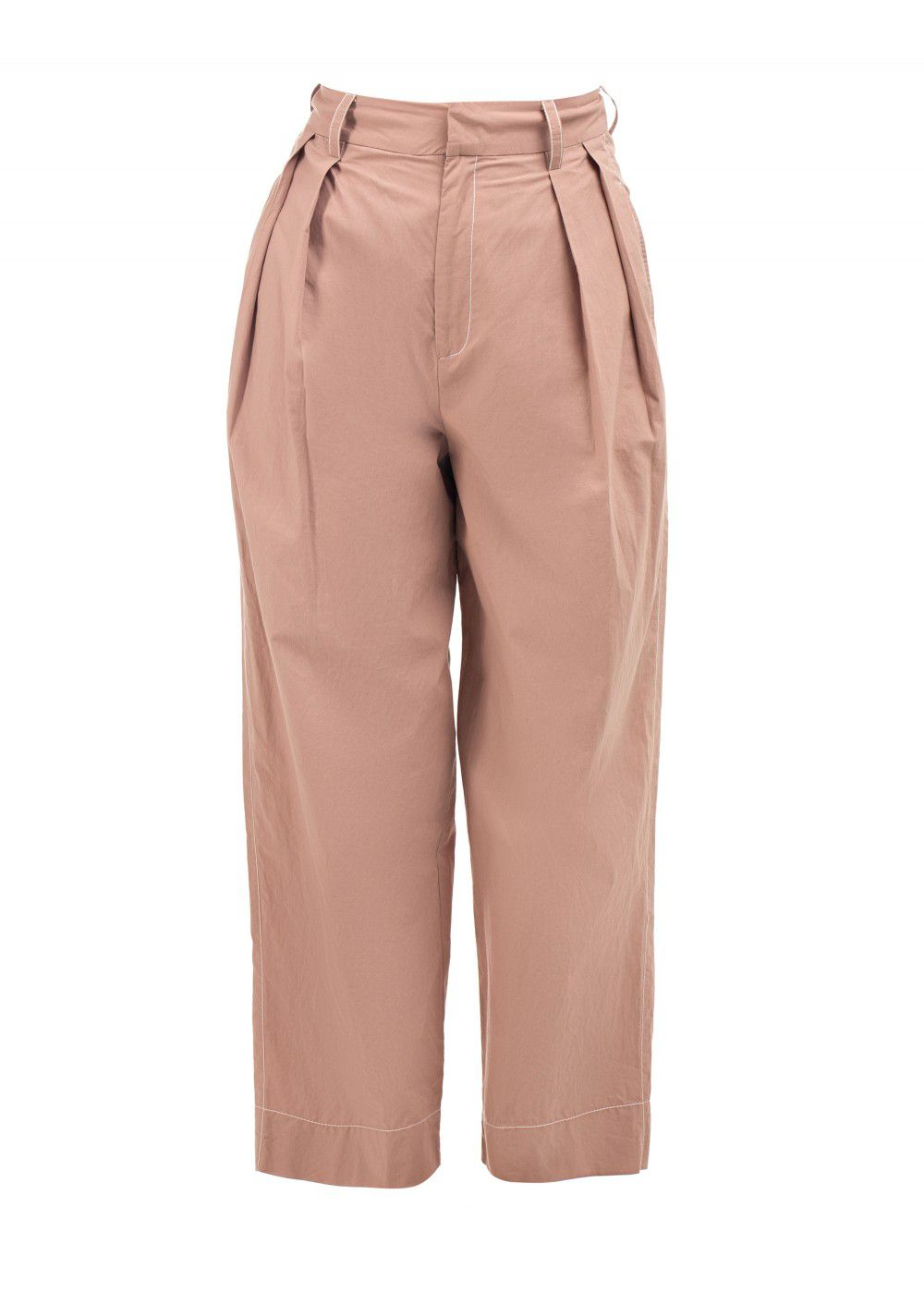 Dhruv Kapoor High Waist Beige Trousers
