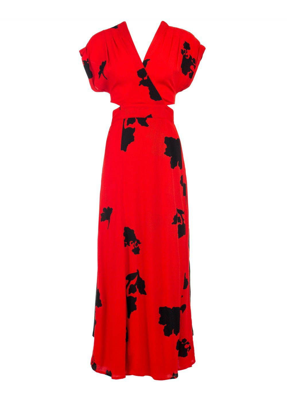 Echo 77 Bali Batik Print Red Dress