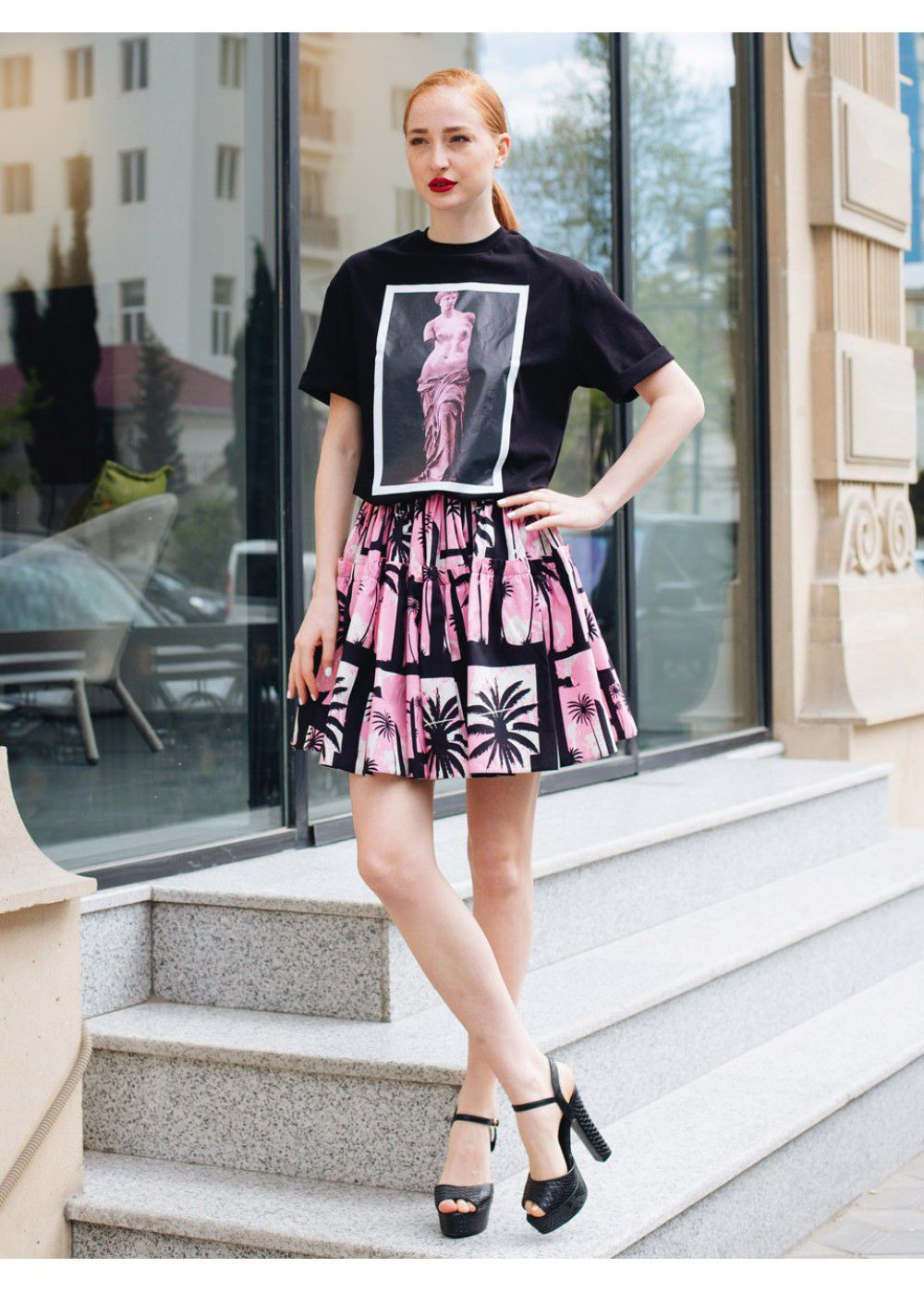 Fausto Puglisi Palm Skirt