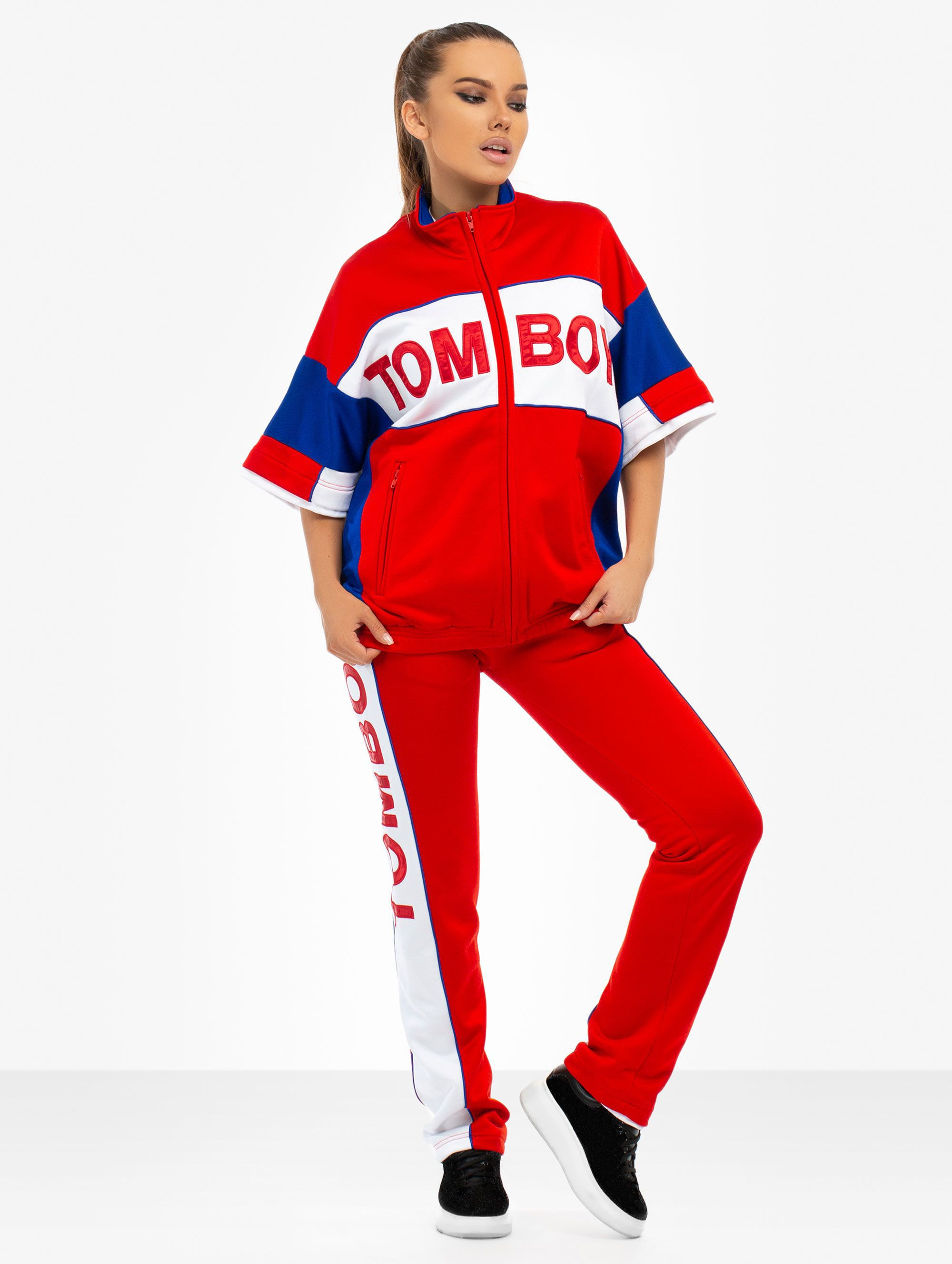 Tomboy Chelsea Tracksuit Pants in Red