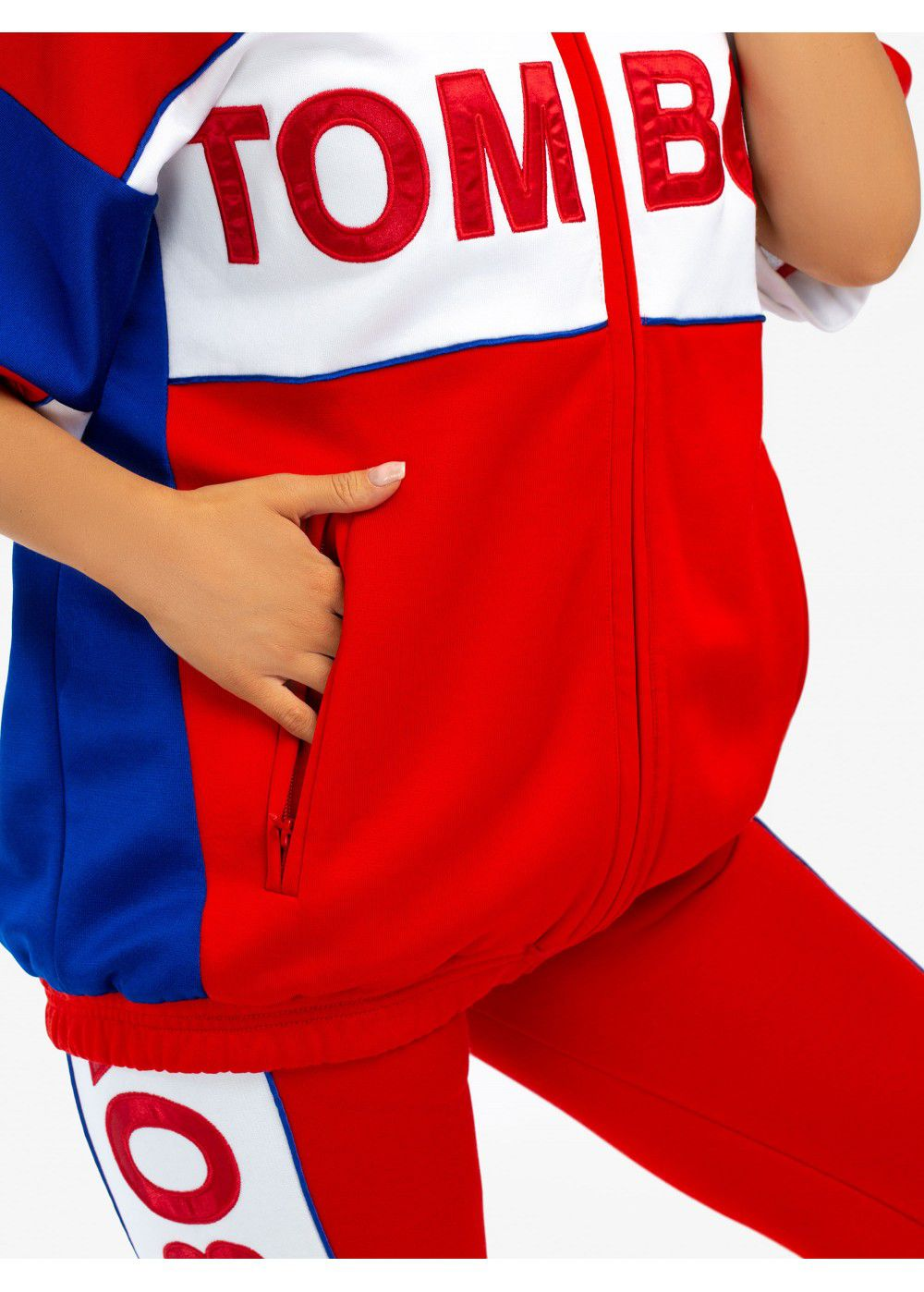 Tomboy Marvin Tracksuit Jacket in Red