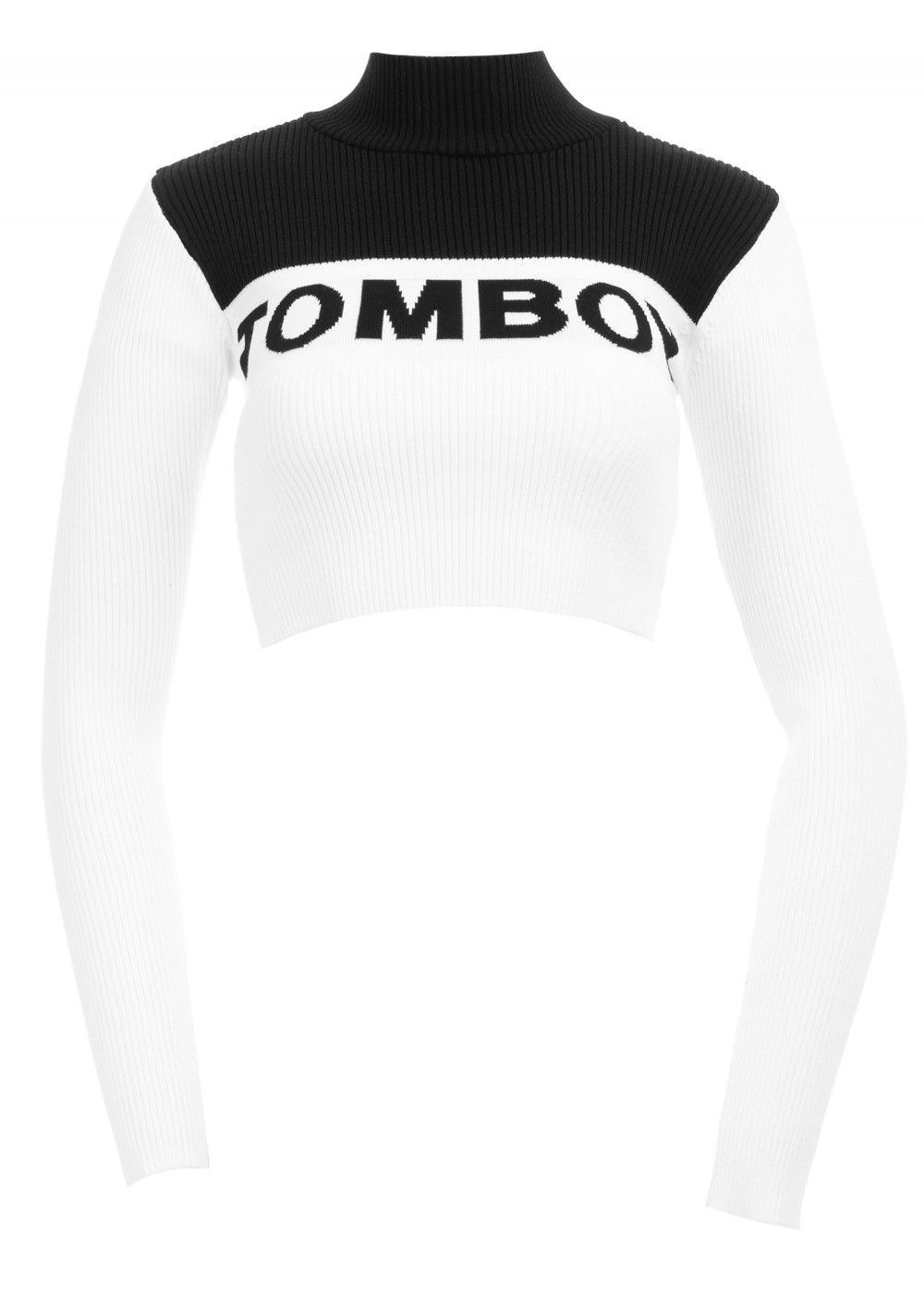 Tomboy Sweater in Black/White