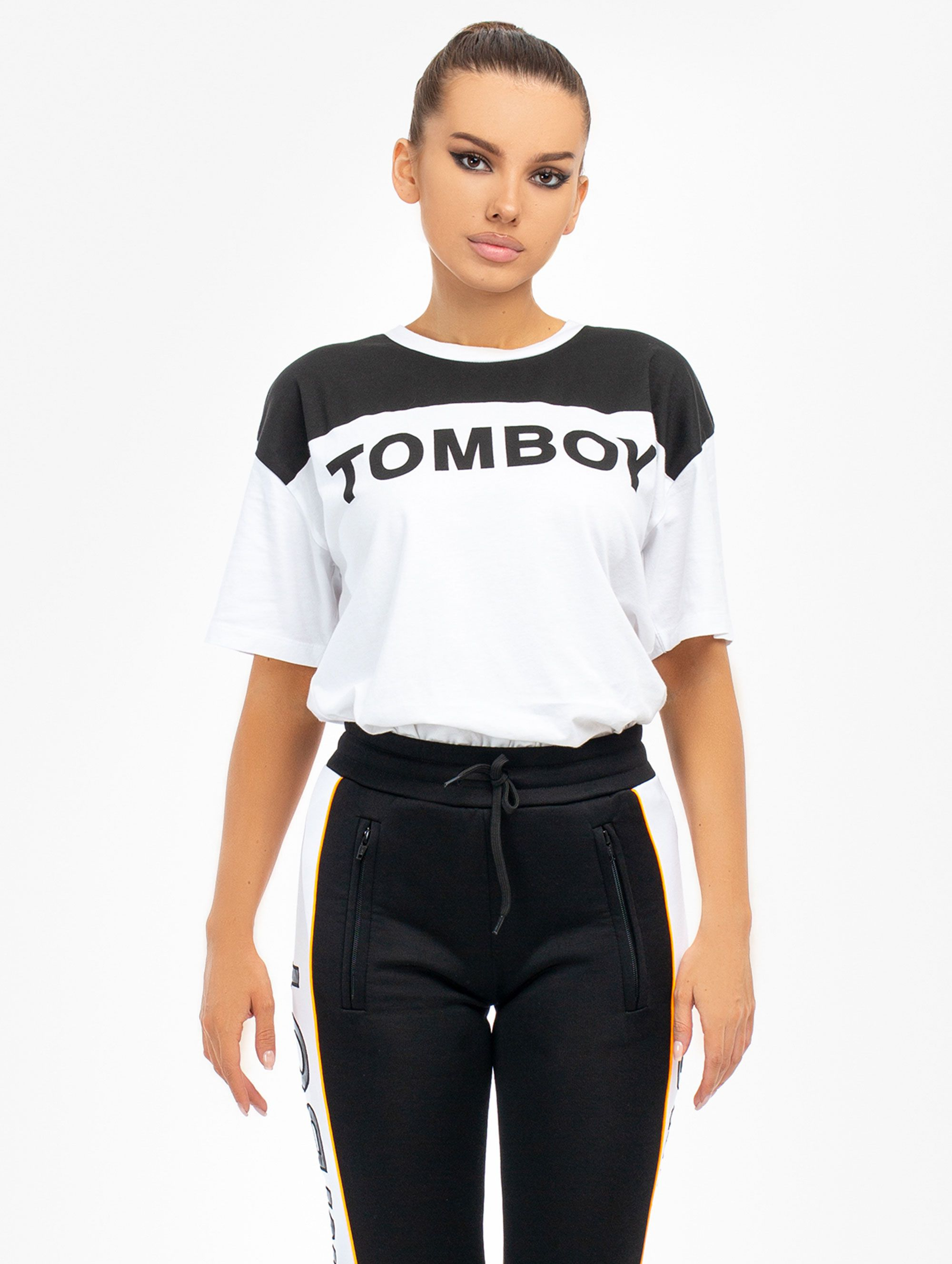 Tomboy T-Shirt in Black/White