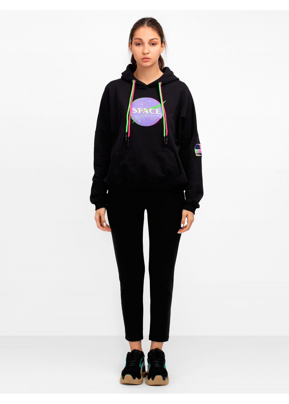 Give Me Space Black Hoodie