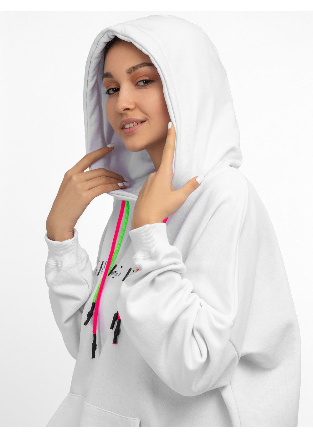Give Me Space White Hoodie