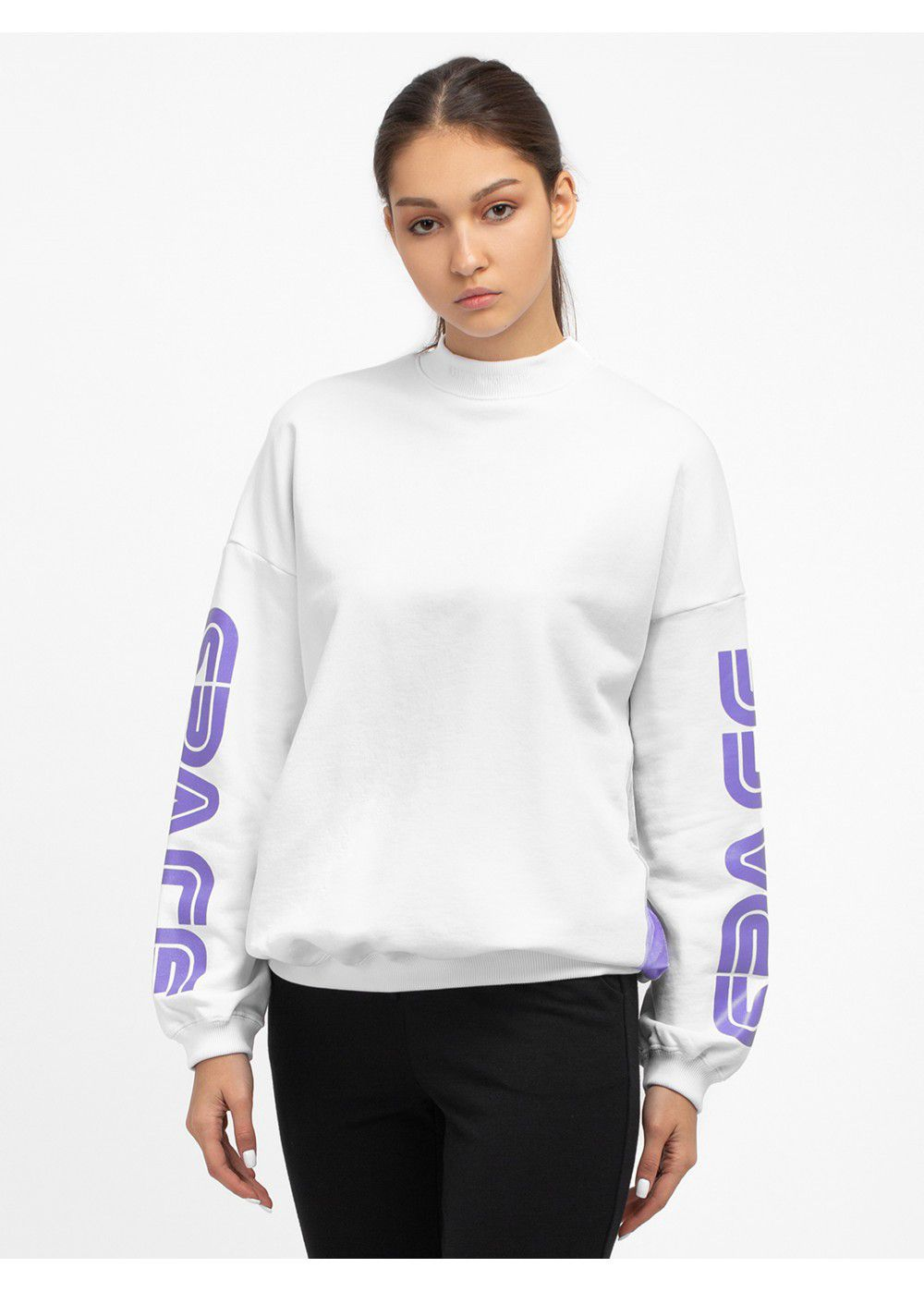 Give Me Space White Sweatshirt