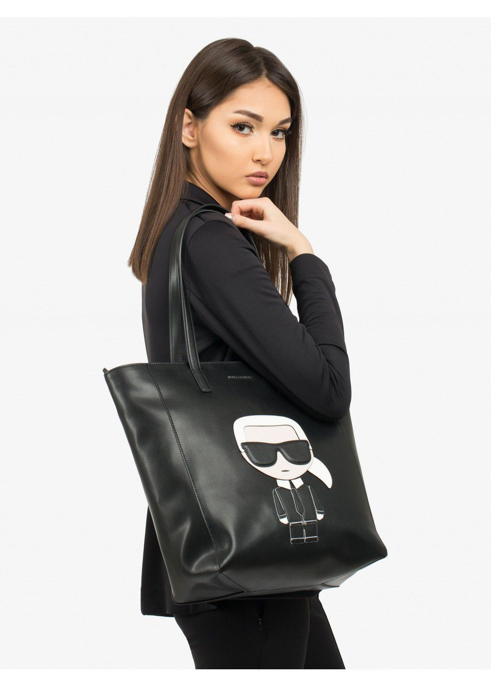 Karl Lagerfeld K/Ikonik Black Bag