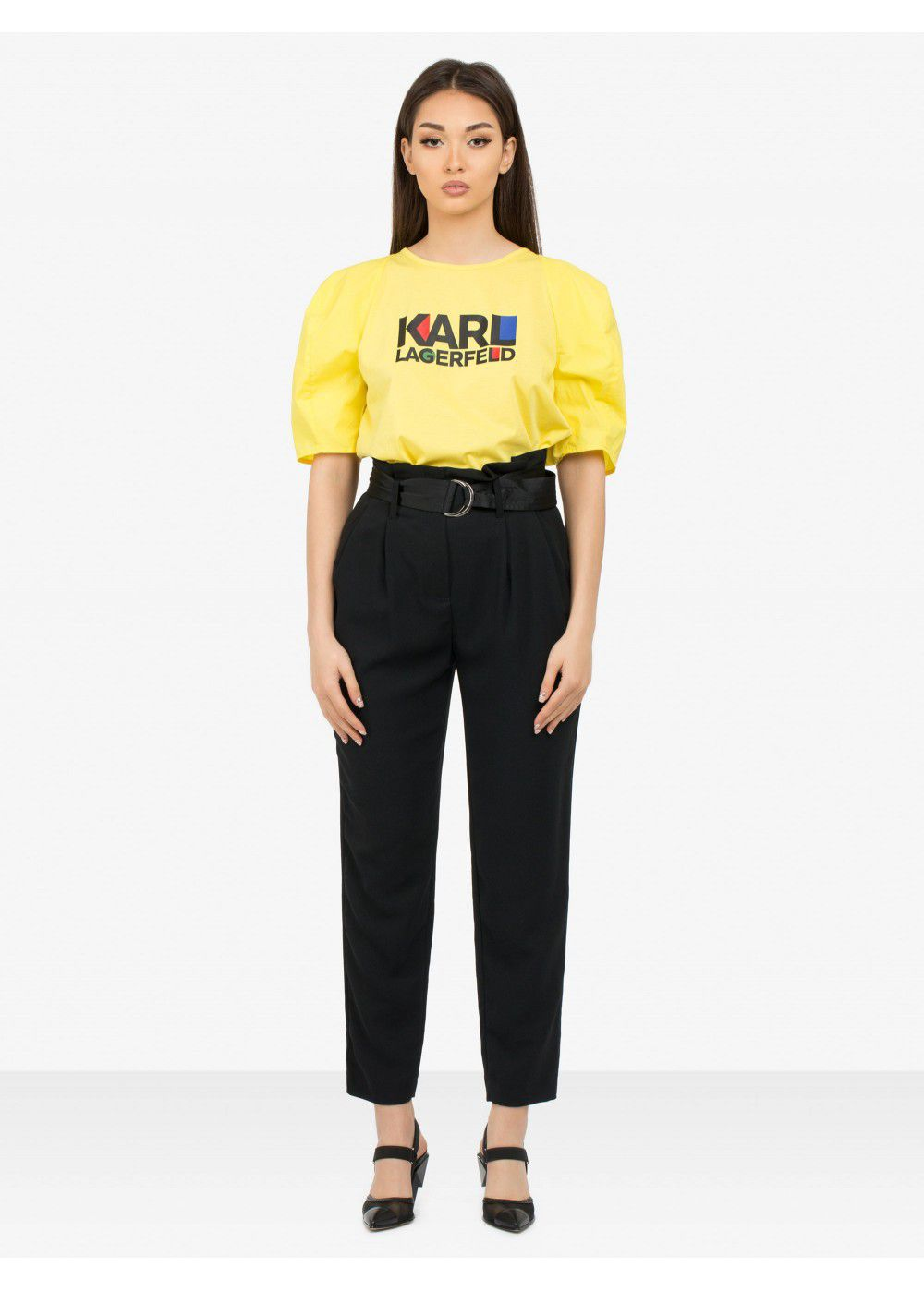 Karl Lagerfeld Casual High-Waist Trousers