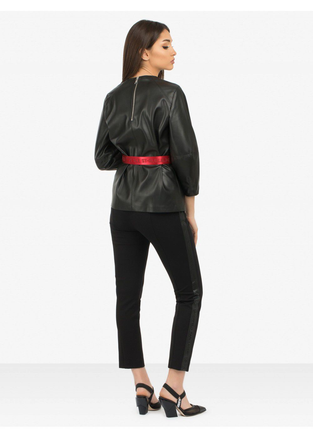 Karl Lagerfeld Faux Leather Top