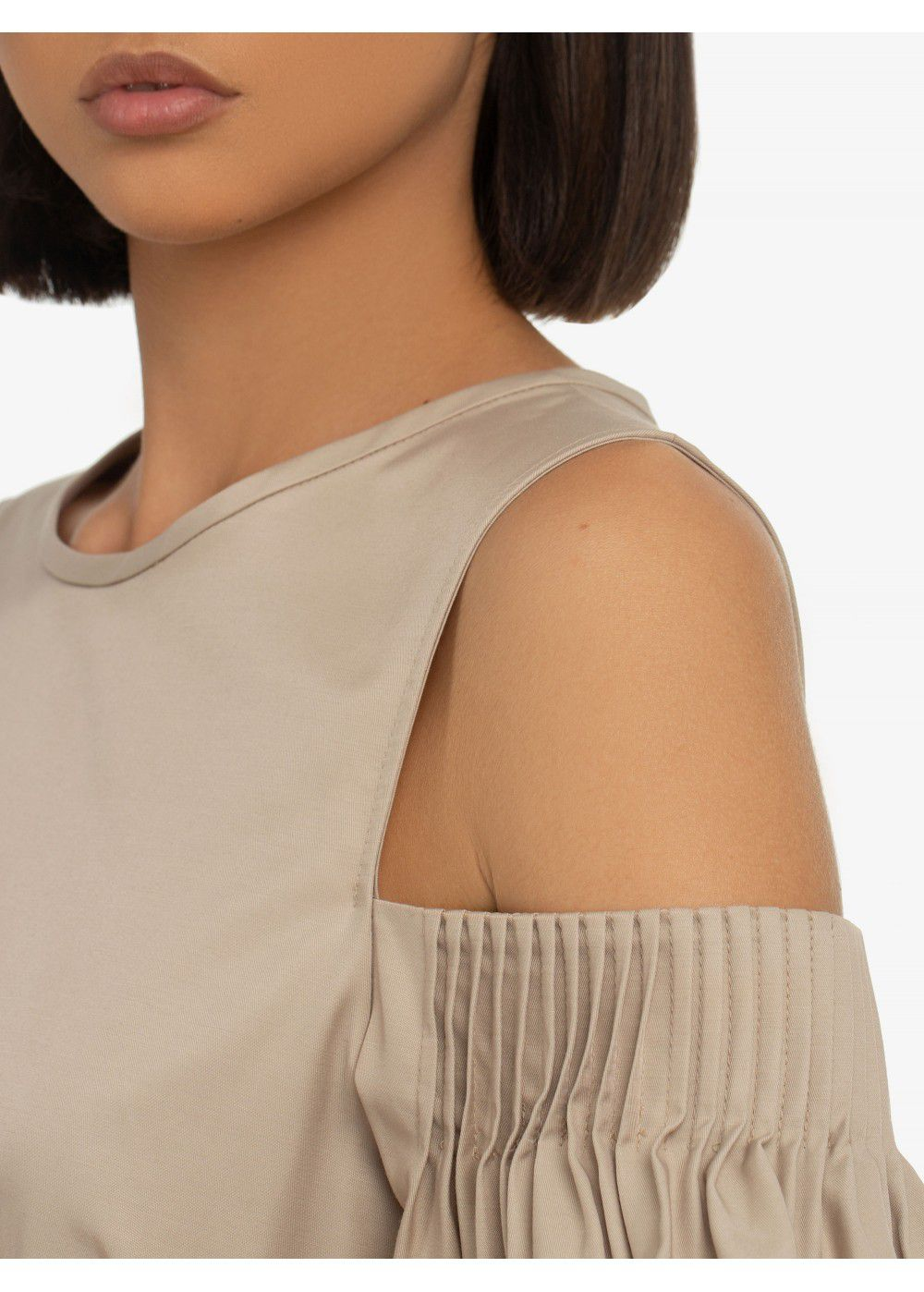 Karl Lagerfeld Cold Shoulder Flare Dress