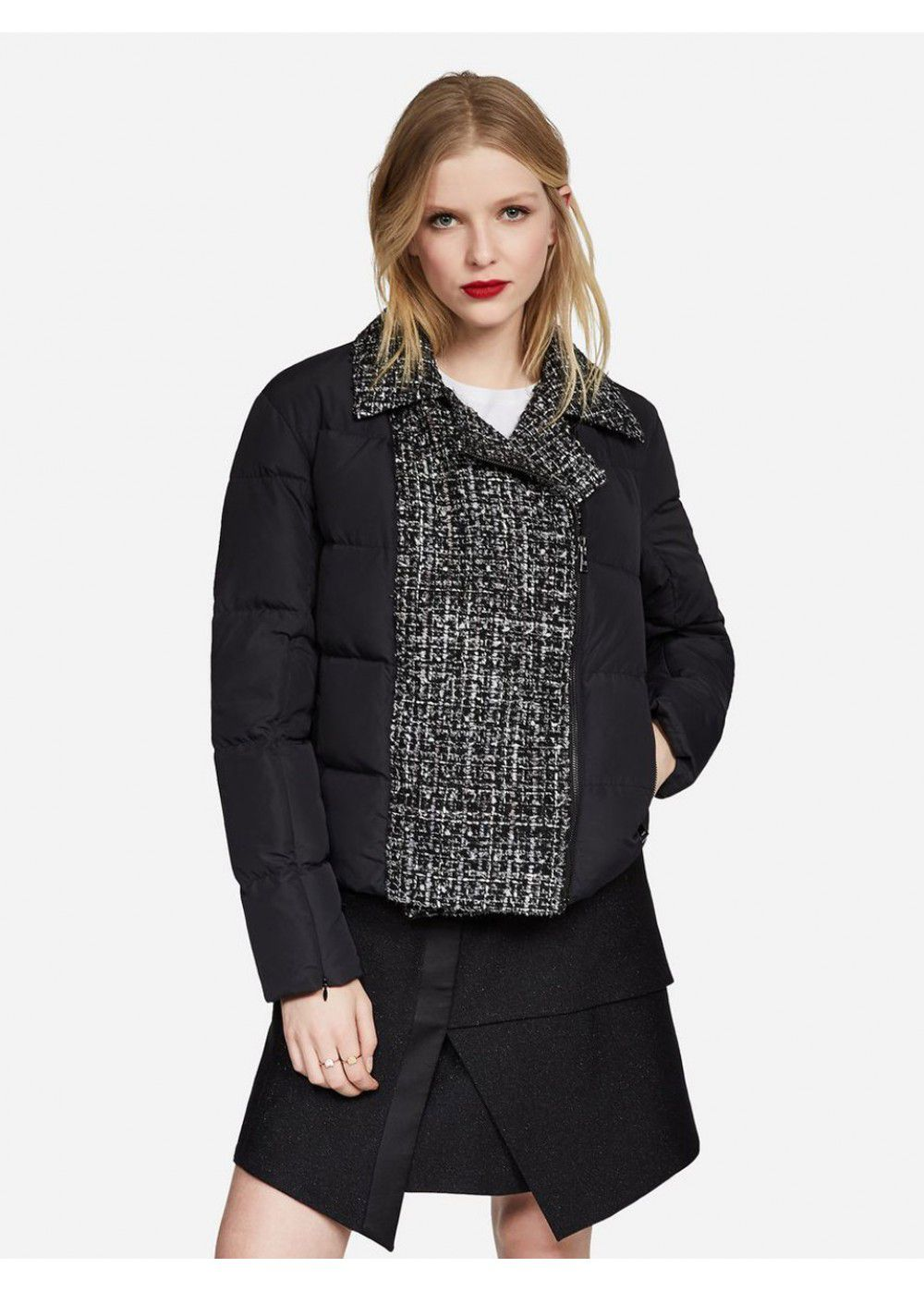 Karl Lagerfeld Boucle and Nylon Jacket