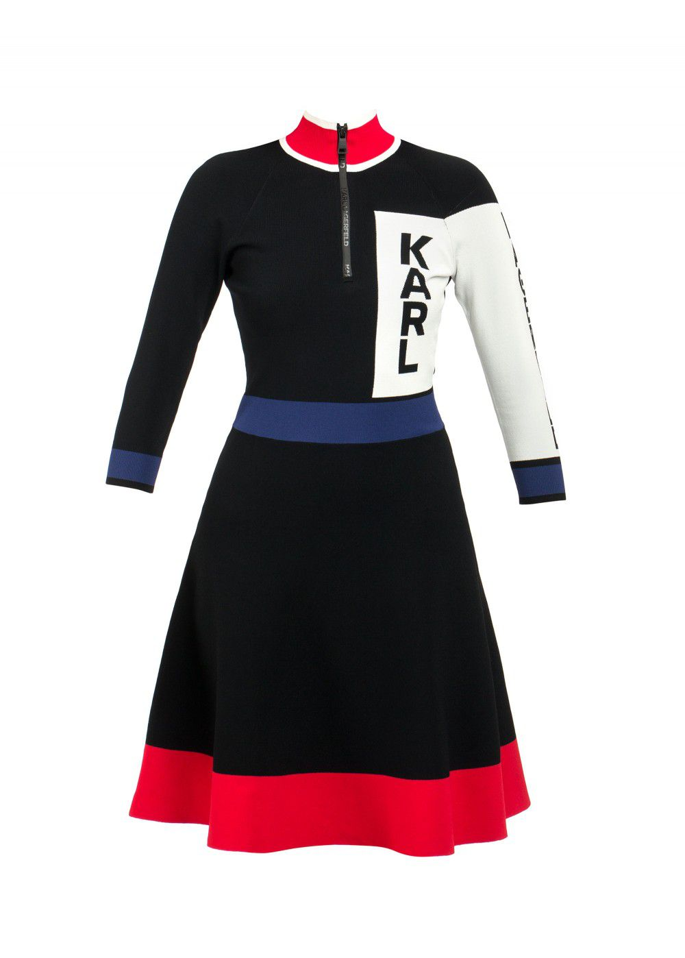 Karl Lagerfeld Colour-Block Logo Dress