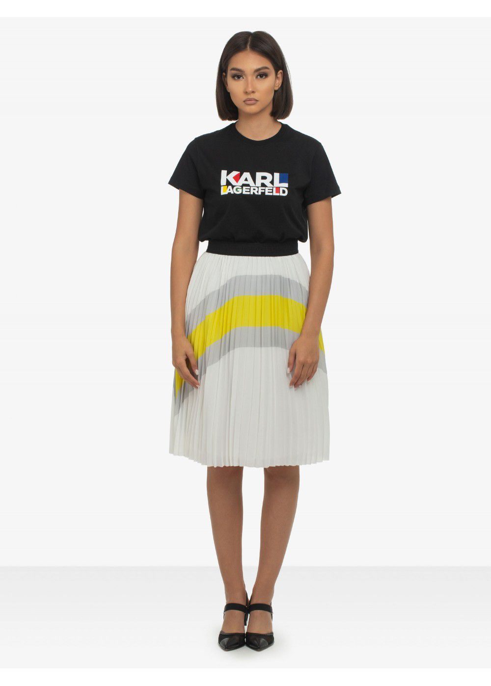 Karl Lagerfeld Pleated Maxi Skirt