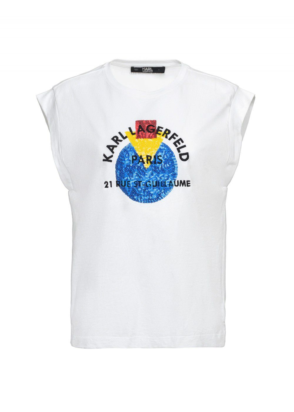 Karl Lagerfeld White Sleeveless T-Shirt