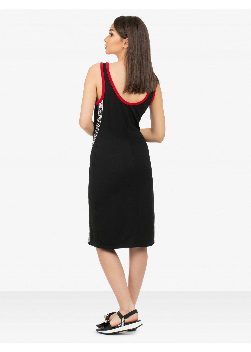 Karl Lagerfeld Jersey Tape-Detail Dress