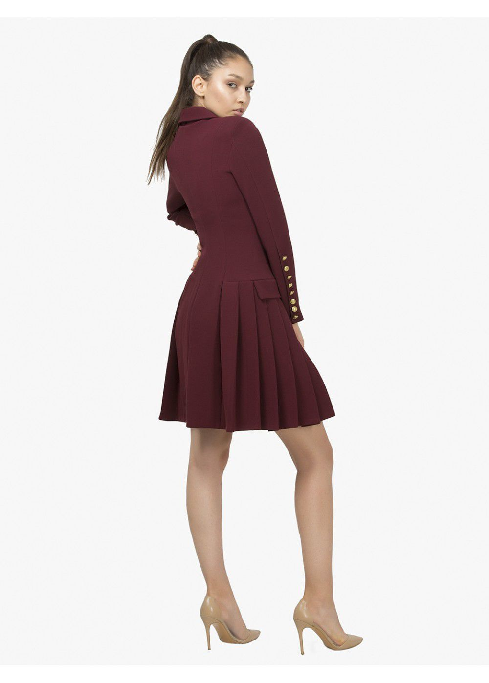 Maleone Bordeaux Jacket Dress