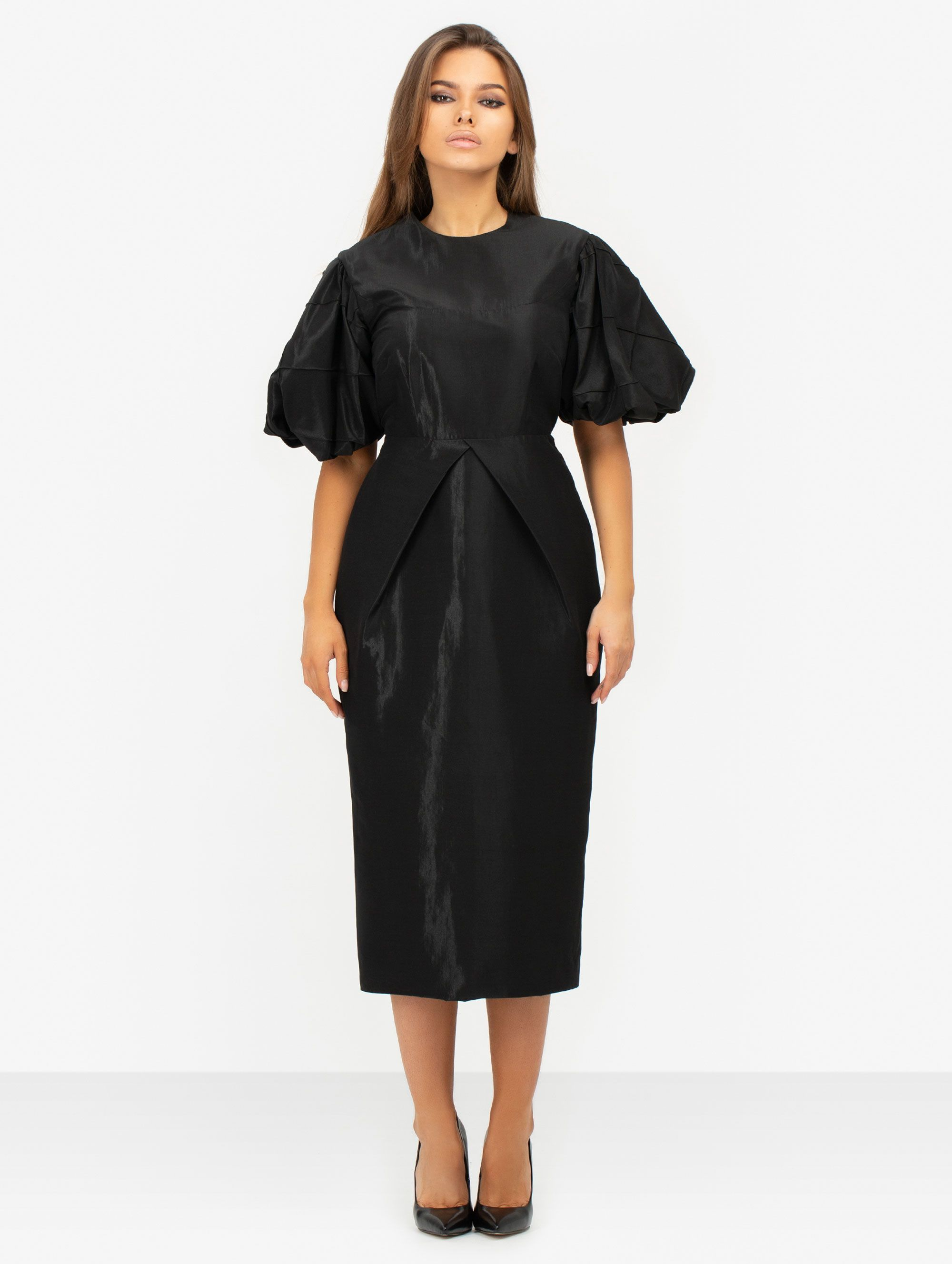 Masterpiece Black Midi Dress