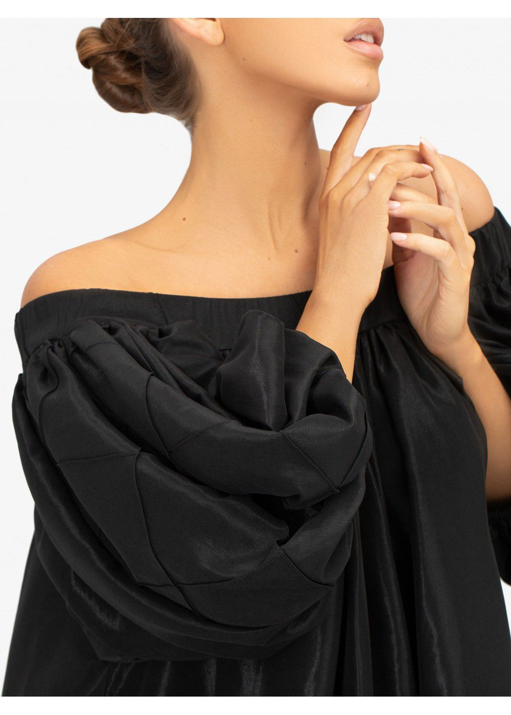 Masterpiece Black Off-The Shoulder Dress