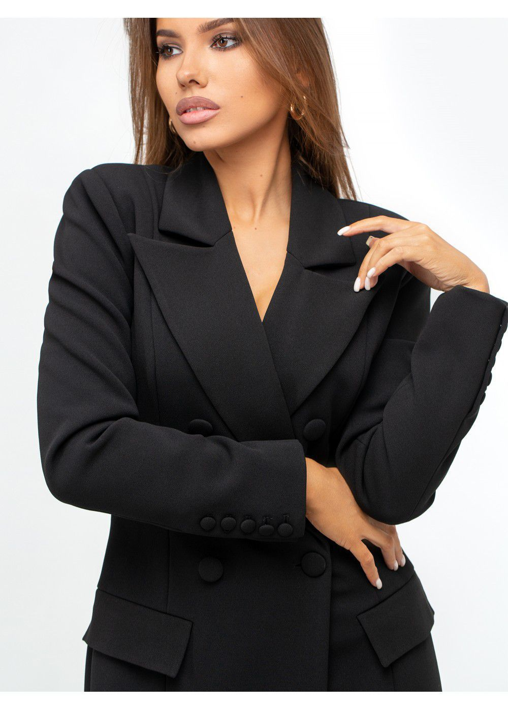 Misha Collection Black Jacket-Dress