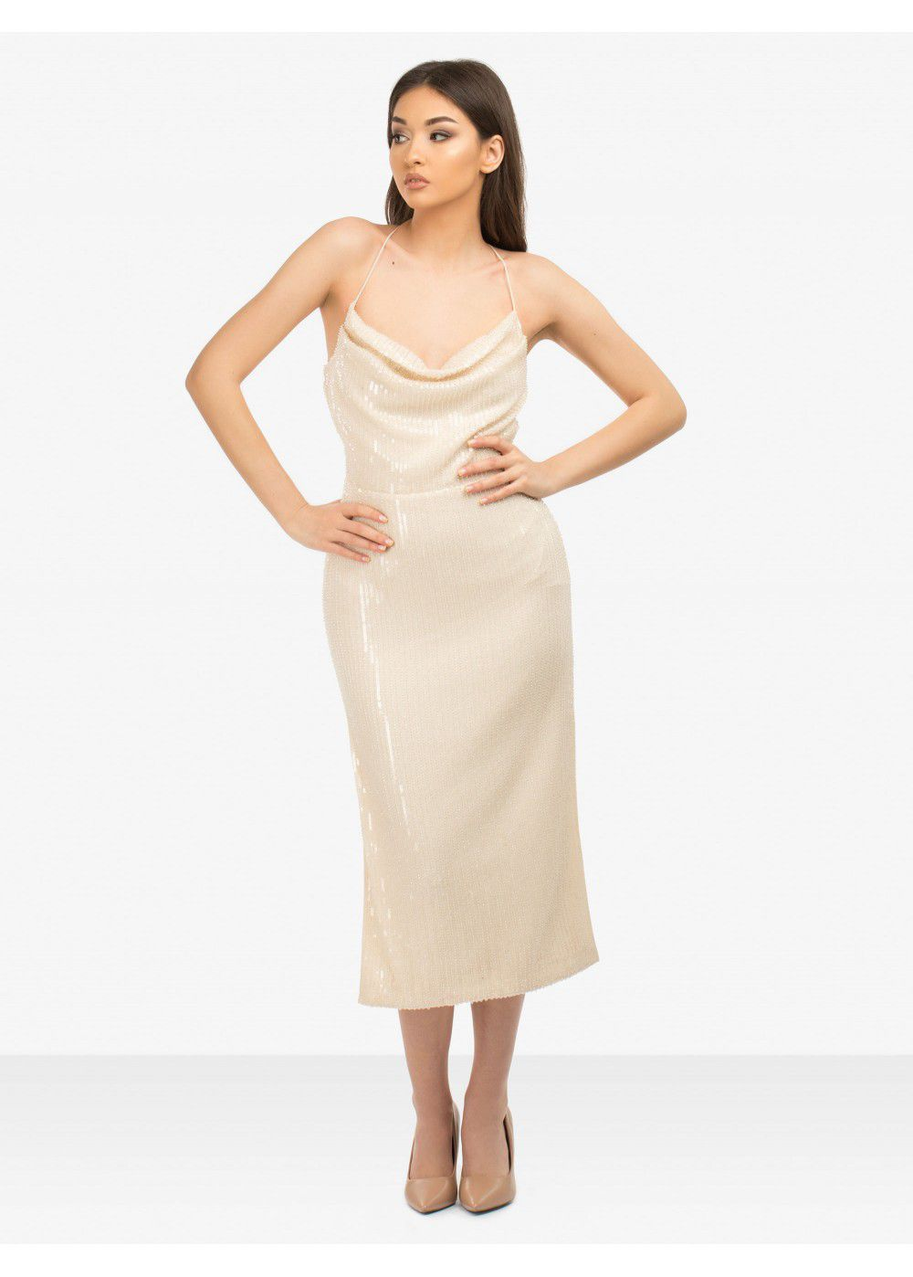 Misha Collection Champagne Devon Dress