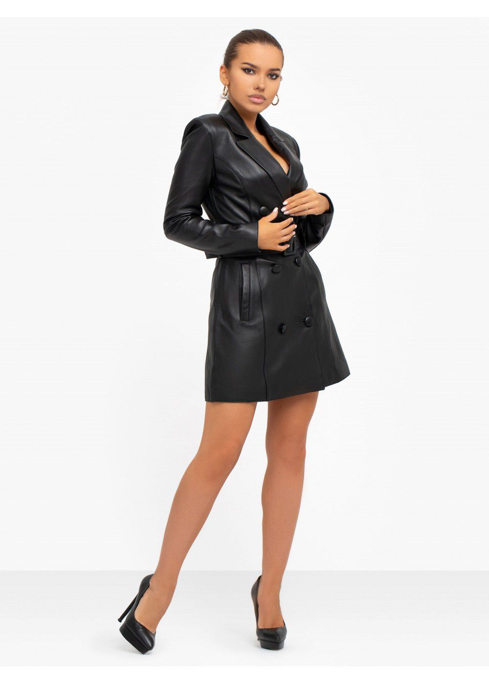 Misha Collection Leather Dress