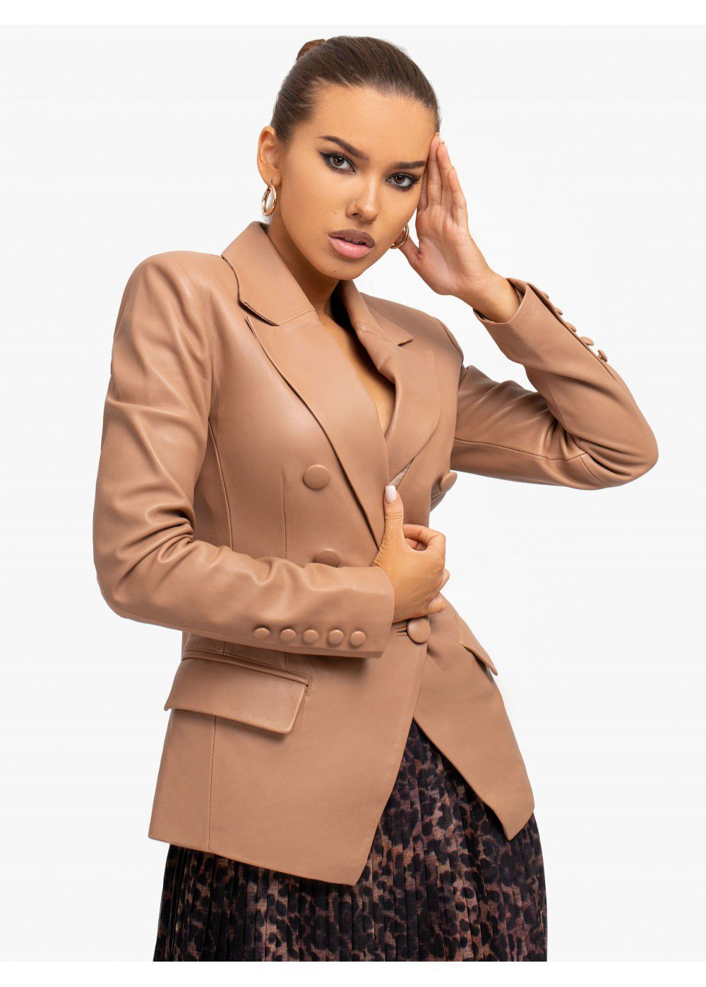 Misha Collection Lora Leather Blazer