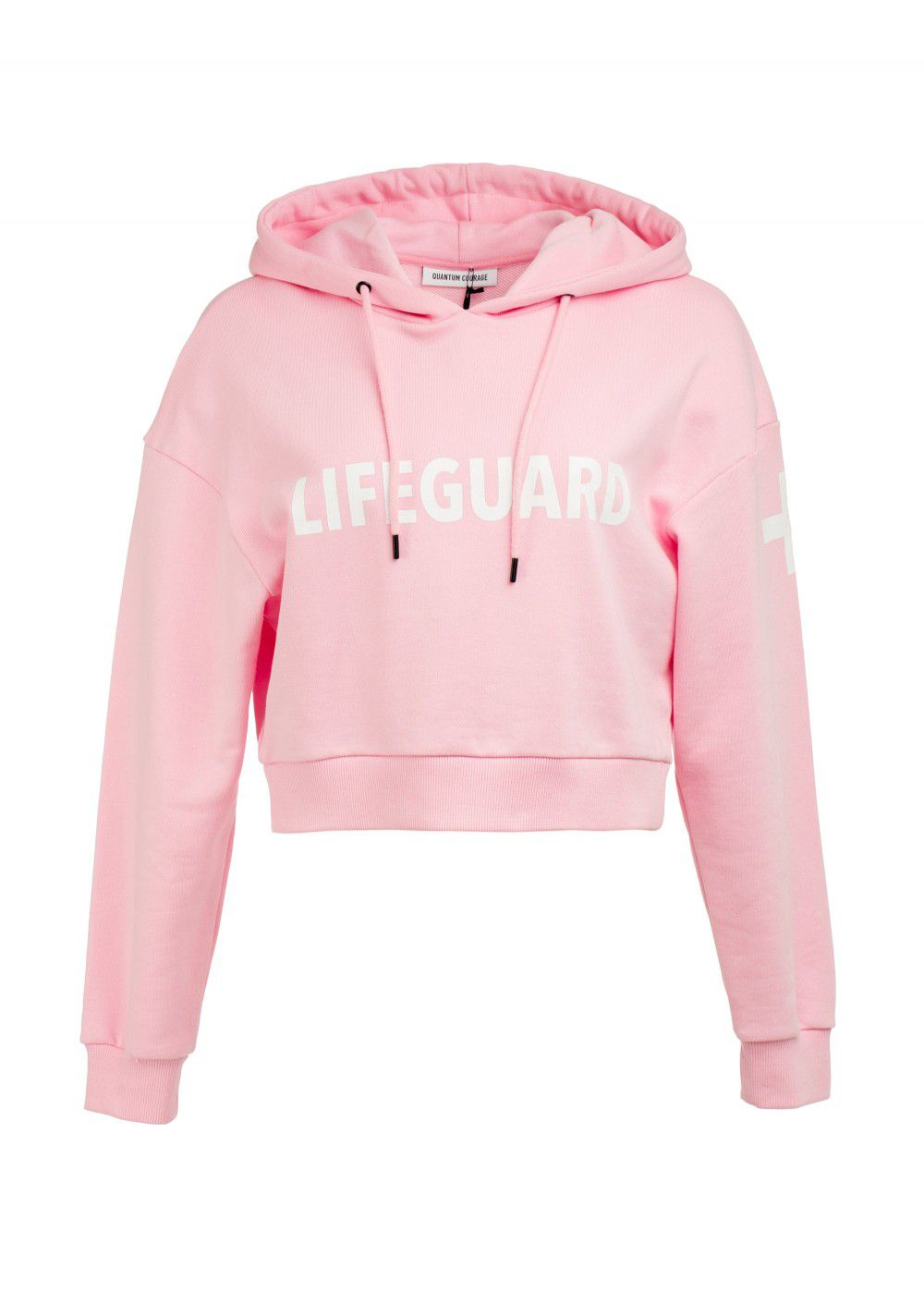 Quantum Courage Lifeguard Cropped Hoodie