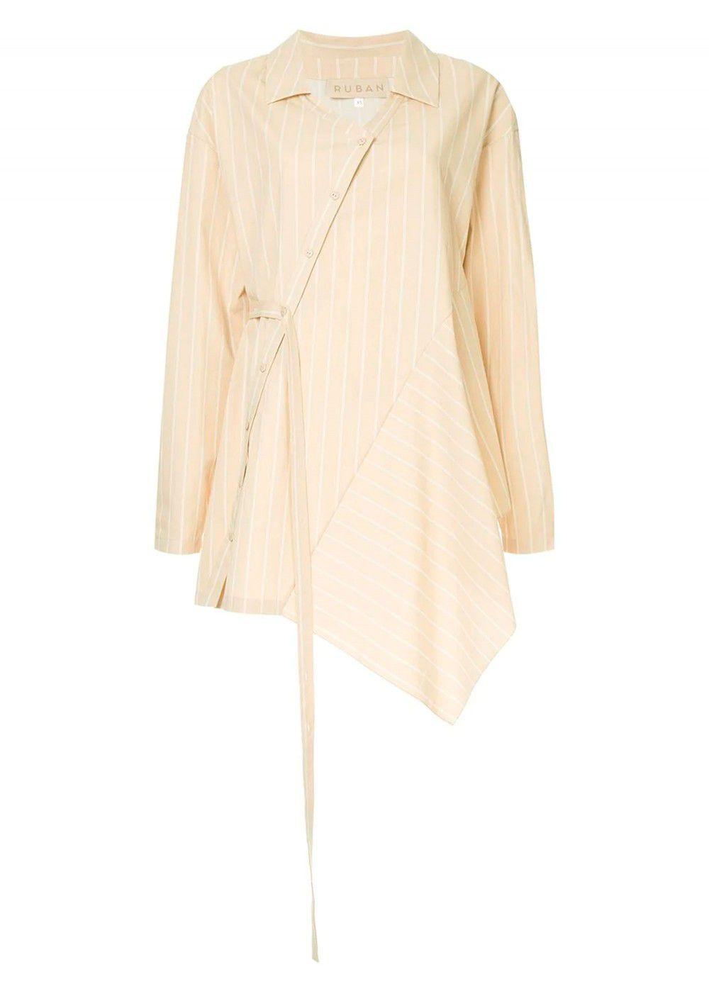 Ruban Asymmetric Striped Shirt