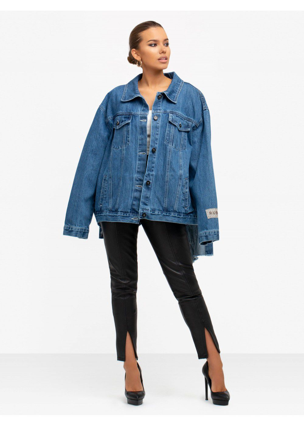 Ruban Tie-Waist Denim Jacket