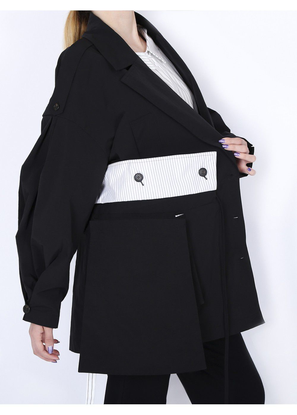 Ruban Oversized Jacket in Black