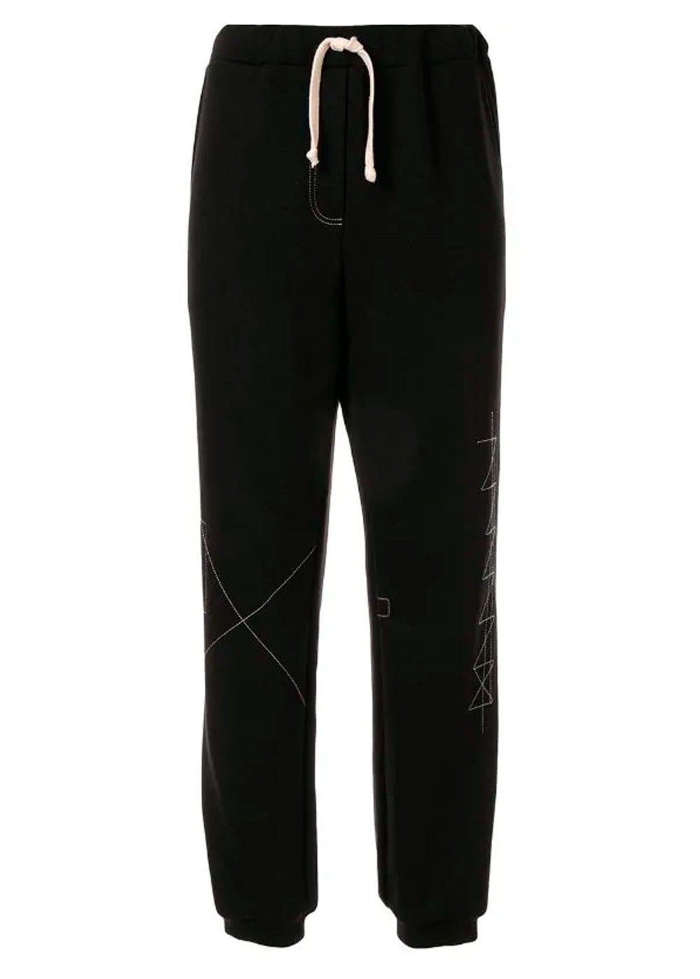 Ruban Embroidered Jersey Trousers