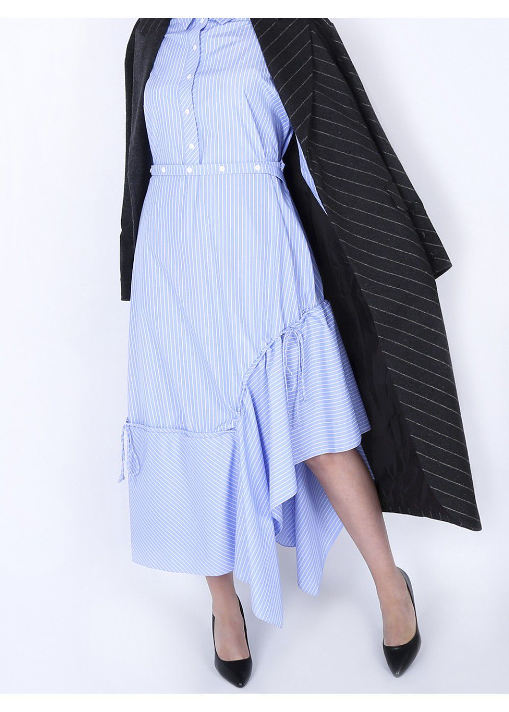 Ruban Blue Shirt-Dress