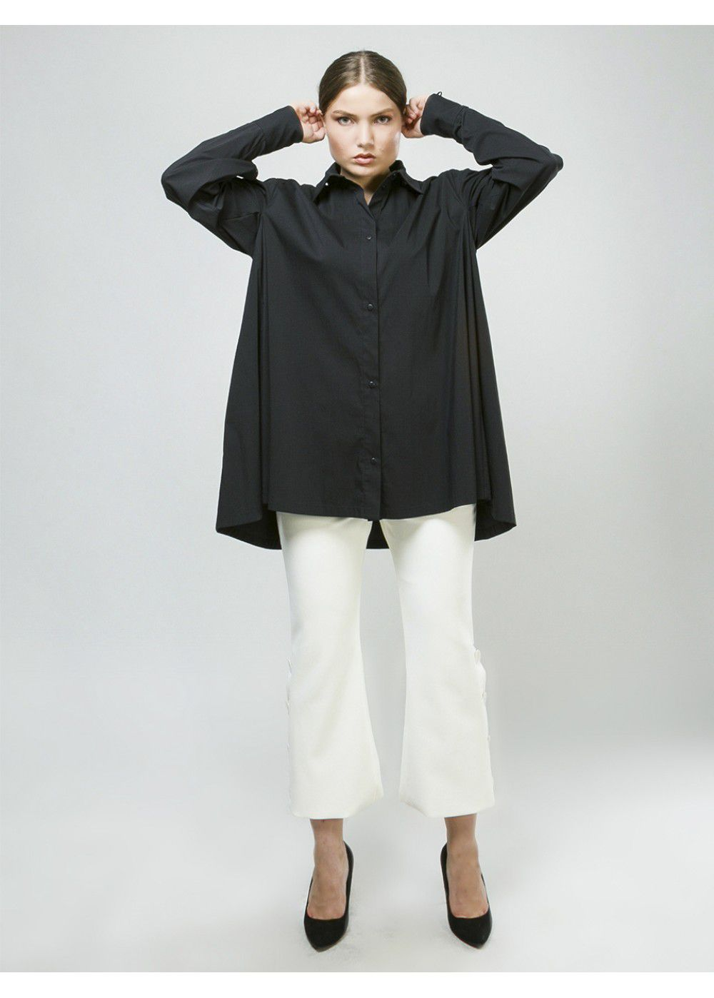 Ruban Shirt with Removable Back
