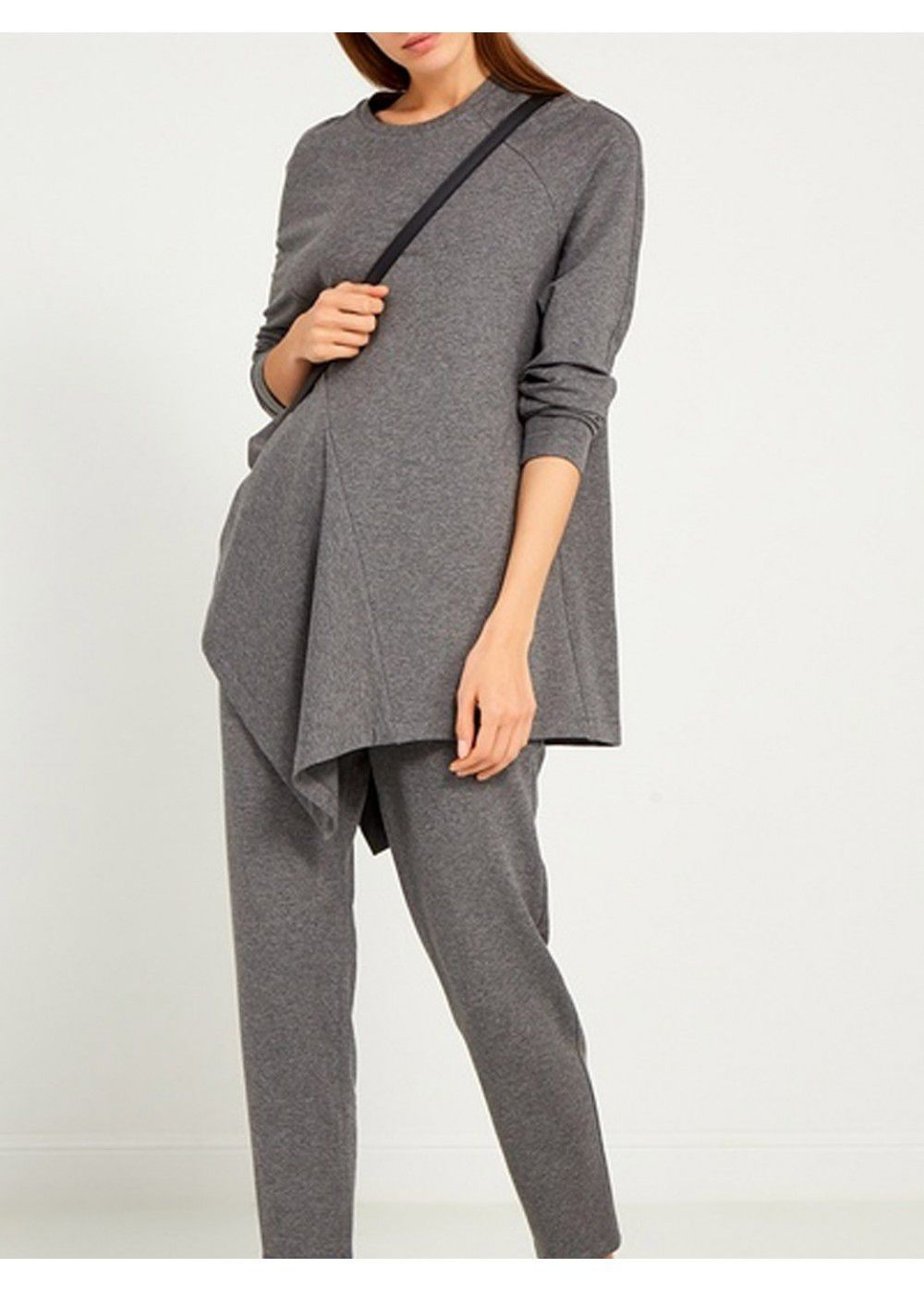 Ruban Mottled Sweatshirt in Grey