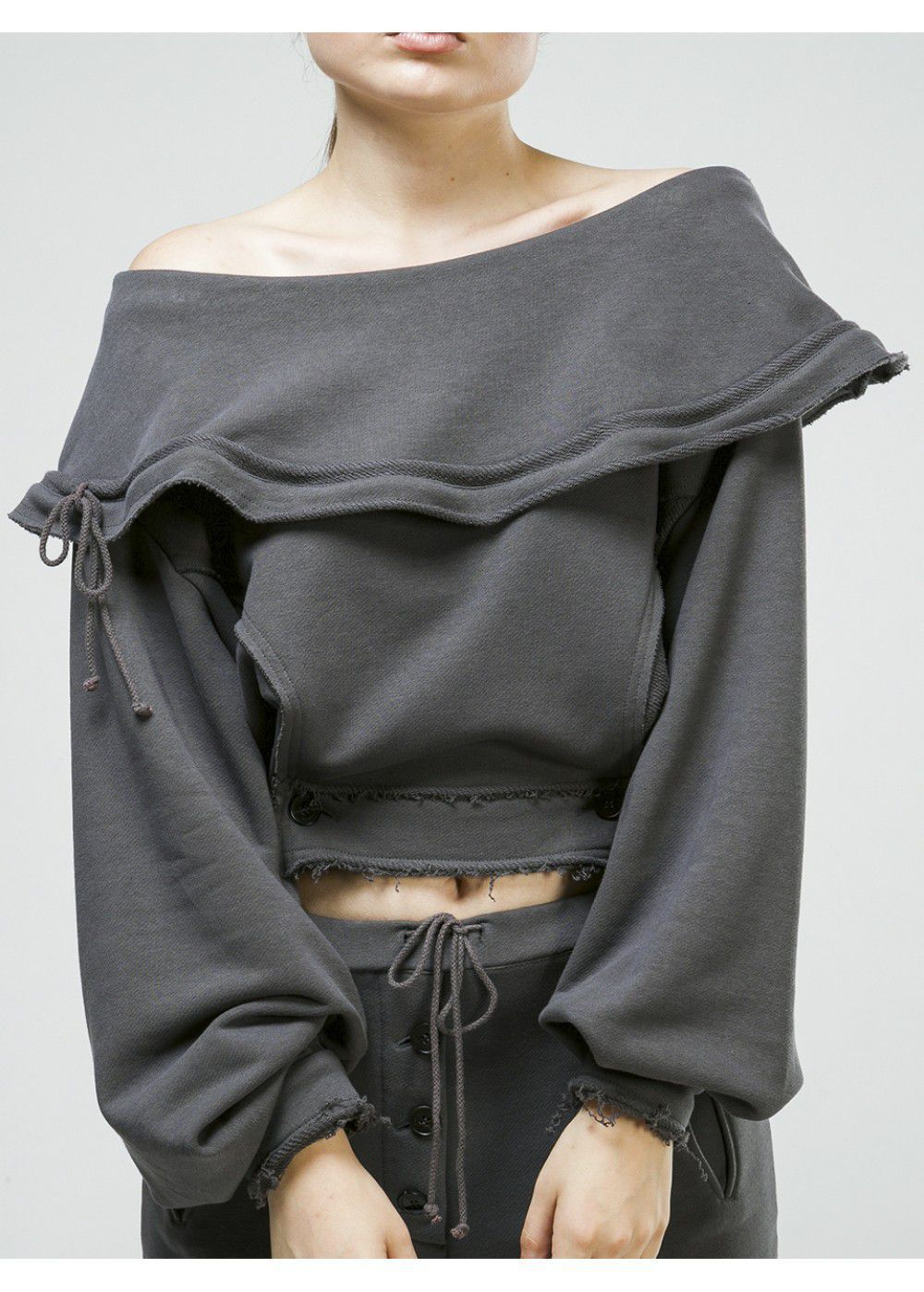 Ruban Open Shoulder Sweatshirt