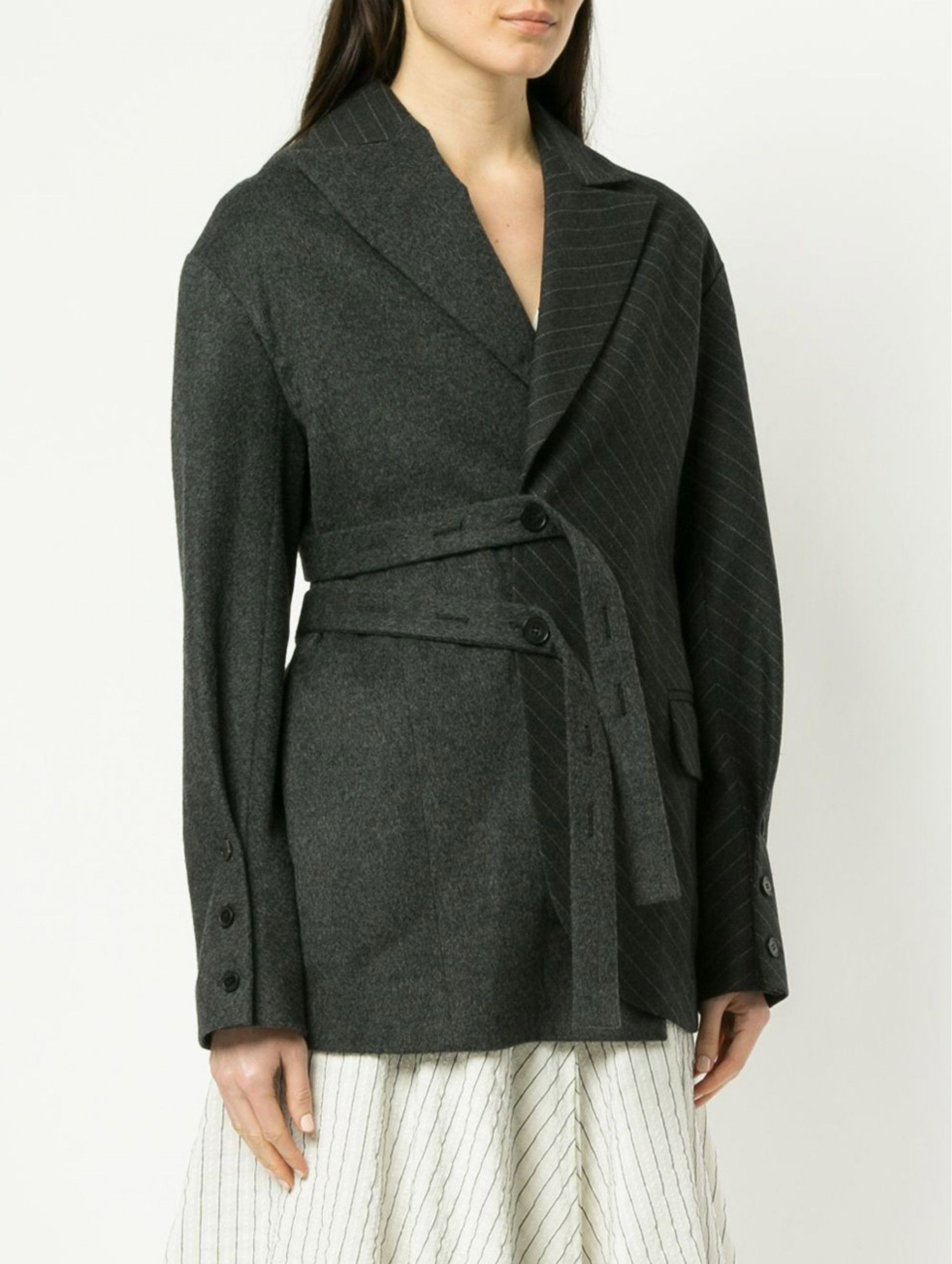 Ruban Oversized Jacket in Dark Grey